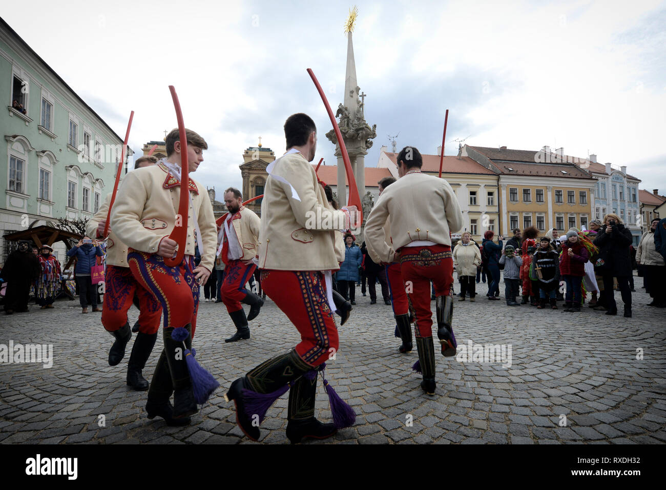 Mikulov, Czech Republic  9th Mar 2019  People dressed in a