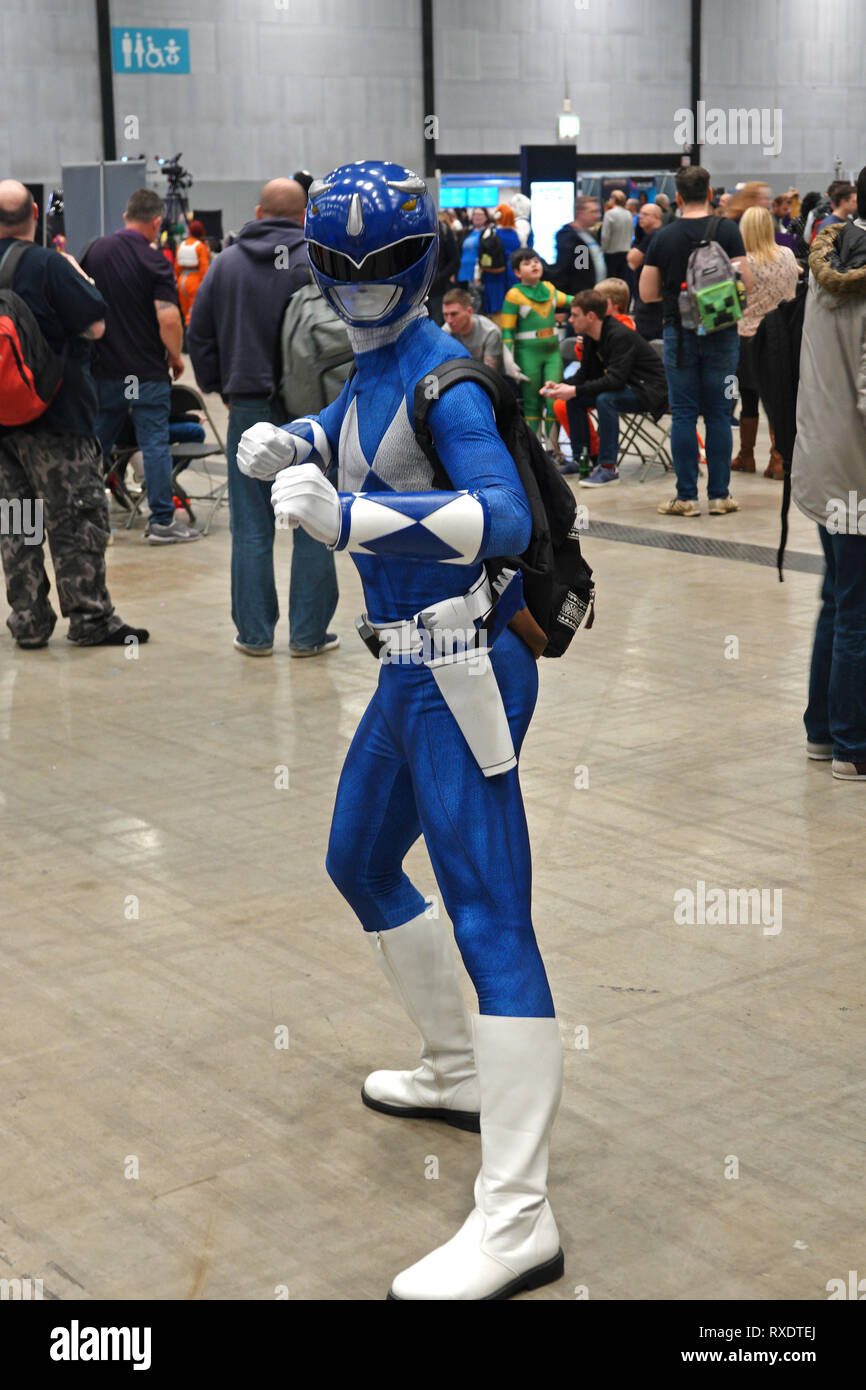Liverpool UK, 9th March 2019. Comic Con 2019 at the Exhibition Centre on the Liverpool waterfront. Credit: Ken Biggs/Alamy Live News. - Stock Image