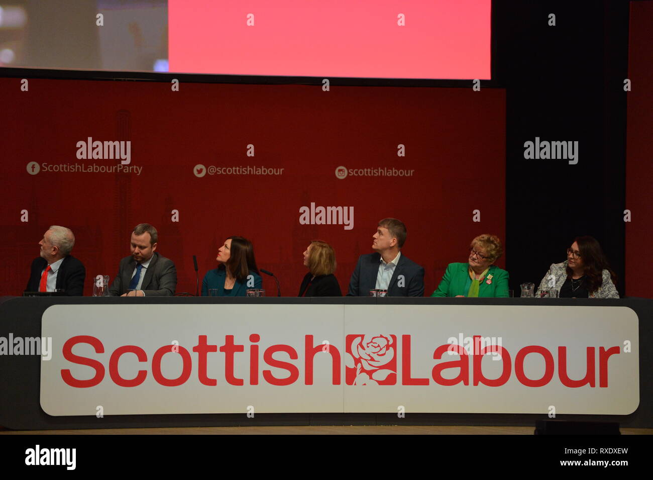 Dundee, Scotland, UK. 9th Mar, 2019. Scottish Labour Leader - Richard Leonard addresses conference with his keynote speech. Credit: Colin Fisher/Alamy Live News - Stock Image