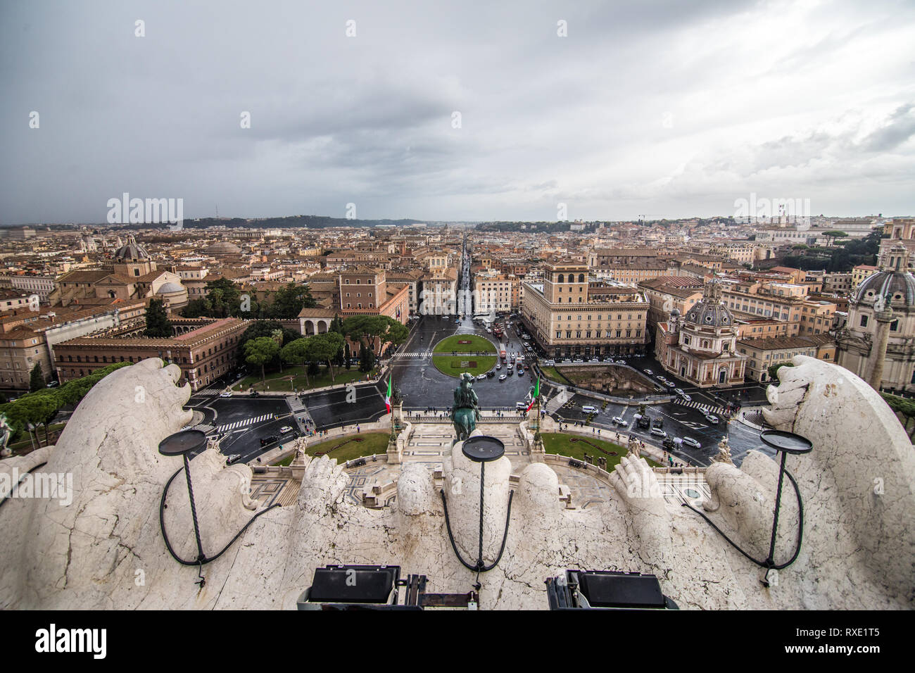 Rome Italy November 2018 View From The Terrazza Delle