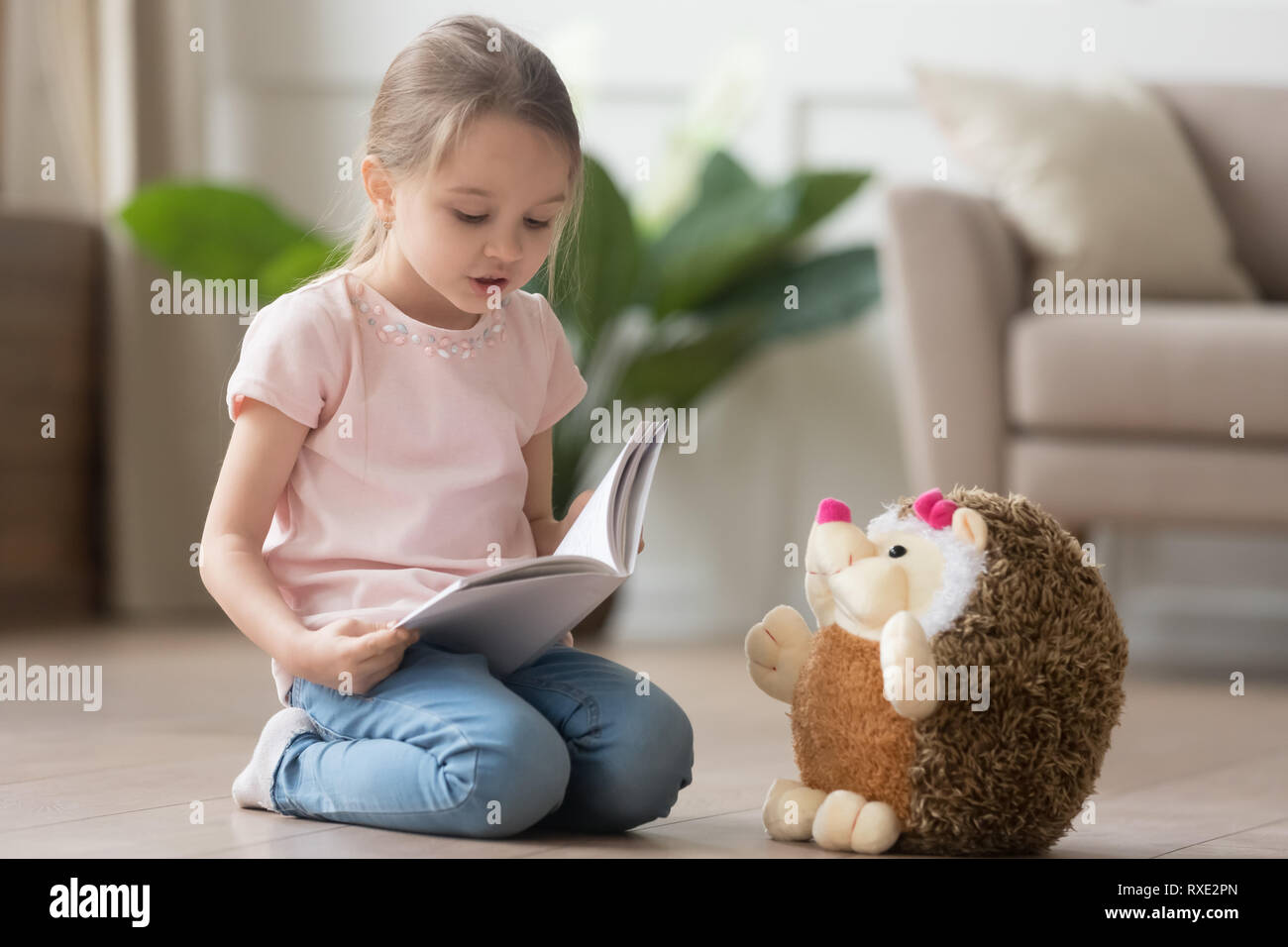Baby Pretending Read Book Stock Photos Baby Pretending