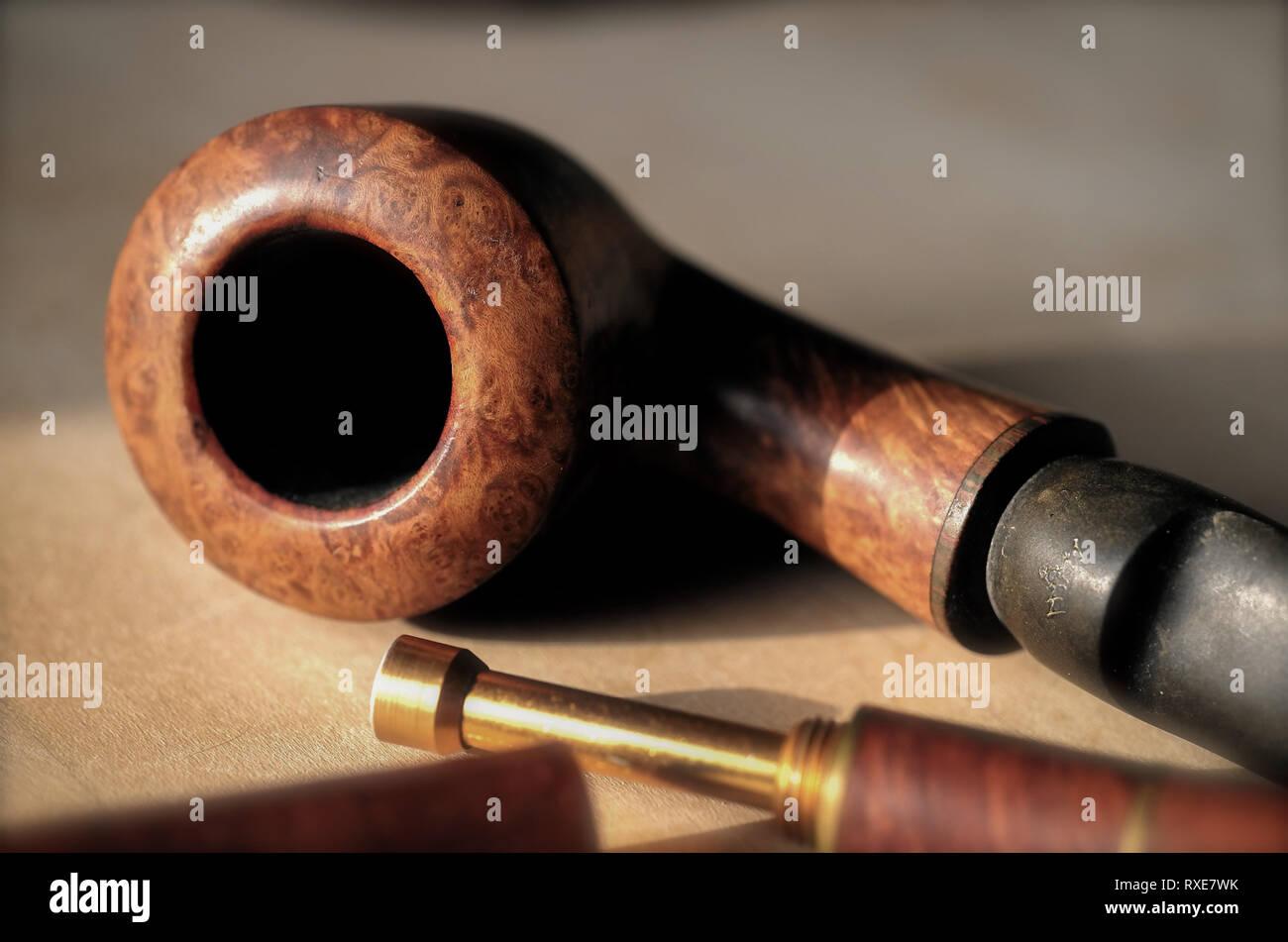 Stilleben Tabak Pfeife Stock Photo