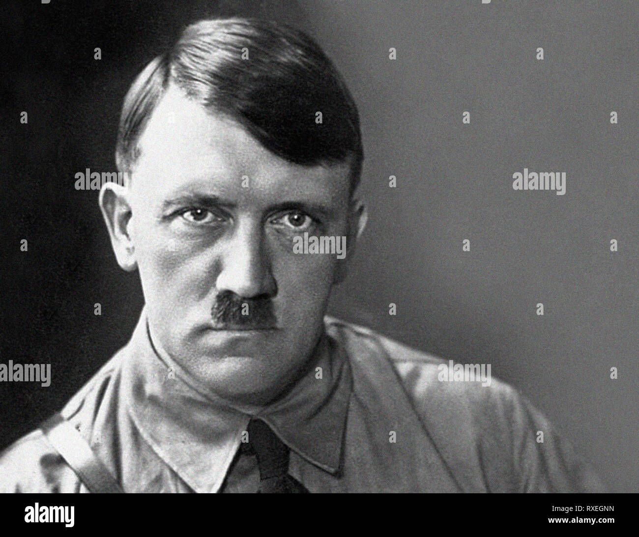 Portrait of Adolf HITLER German wartime leader. New scan from the archives of Press Portrait Service - formerly Press Portrait Bureau. - Stock Image