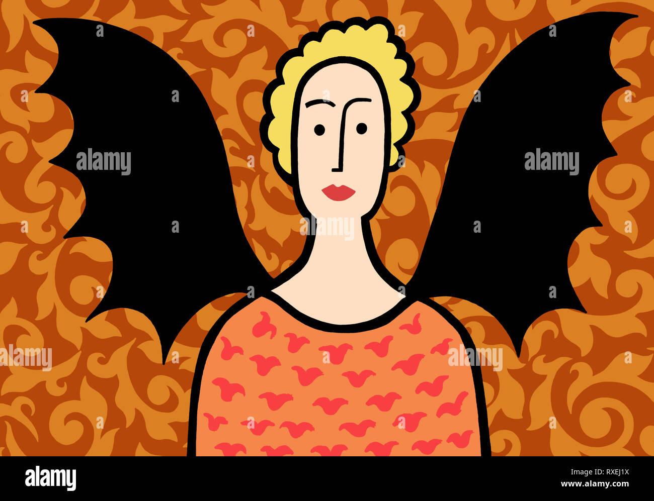 Bat lady - Stock Image
