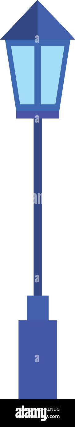 street lightpost lamp icon Stock Vector