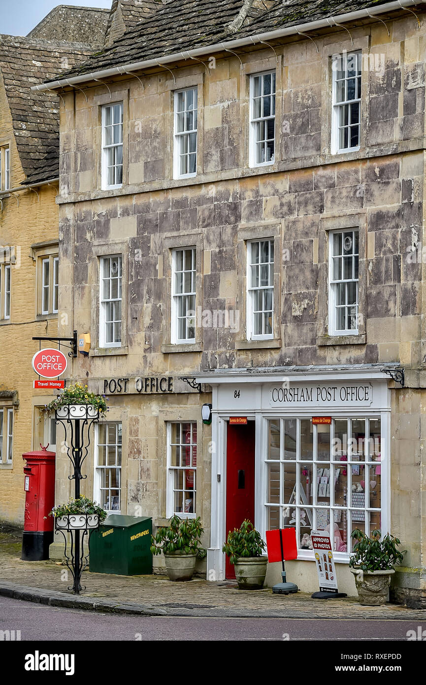 Corsham market town high street in the county of Wiltshire Stock Photo