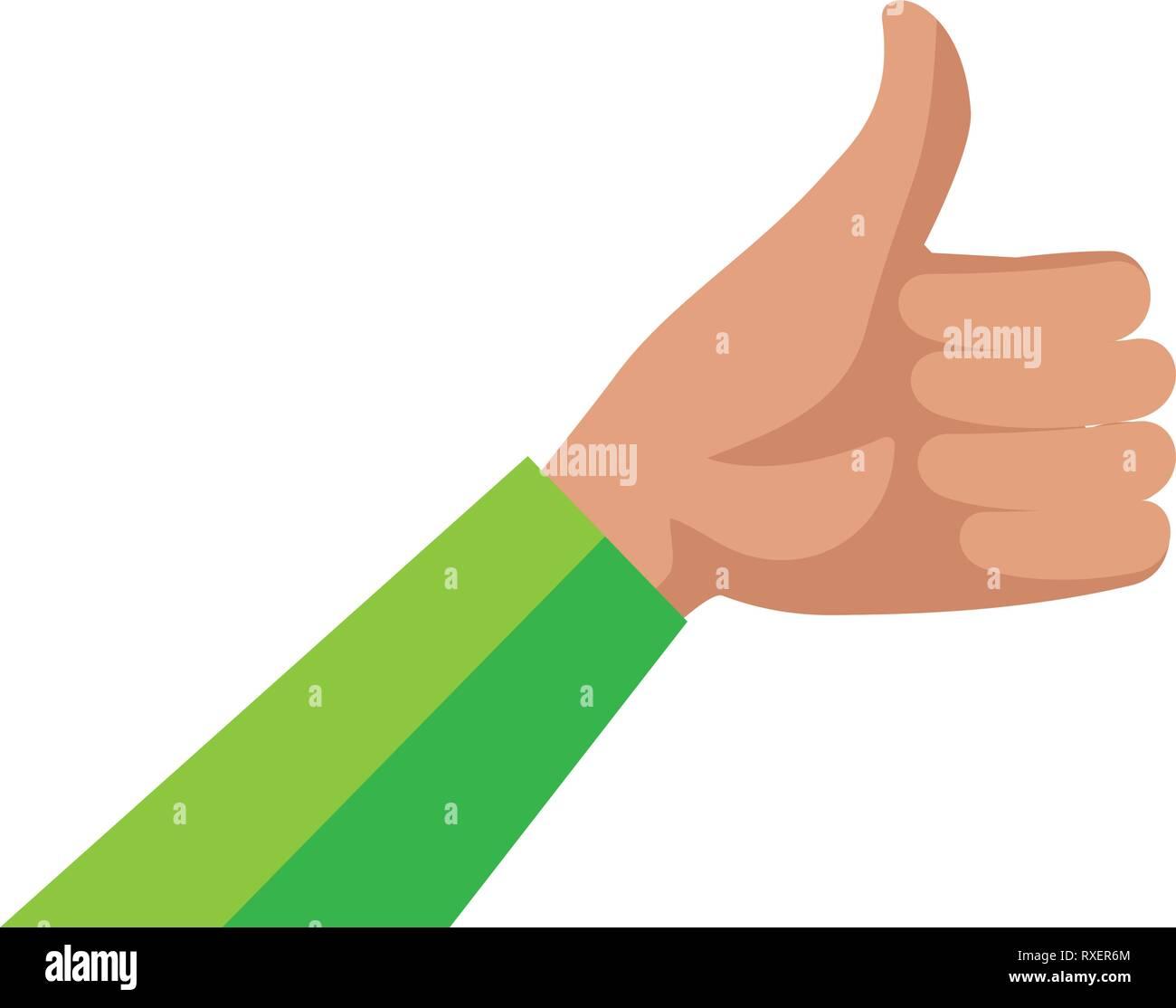 hand human ok symbol Stock Vector