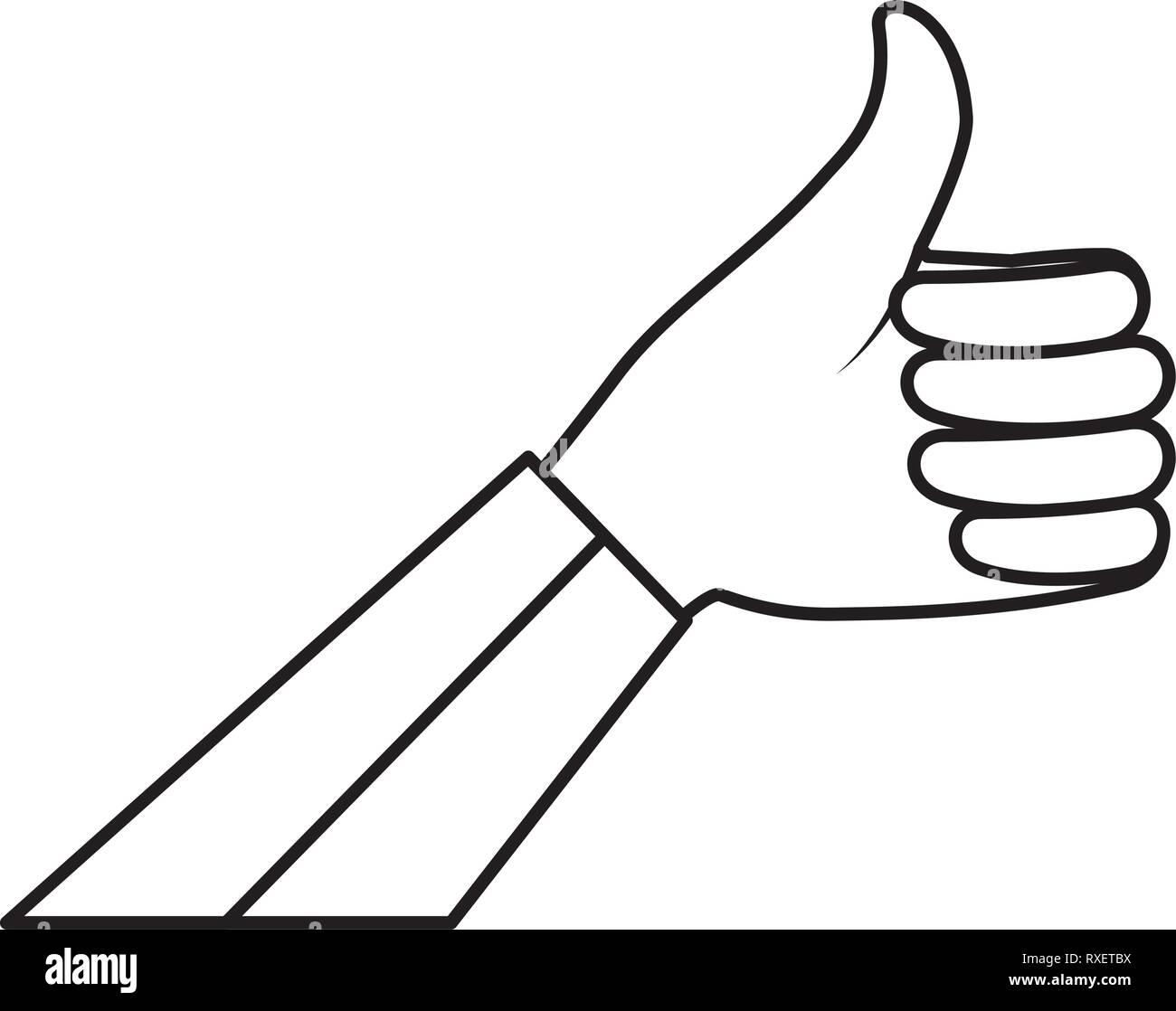 hand human ok symbol - Stock Vector