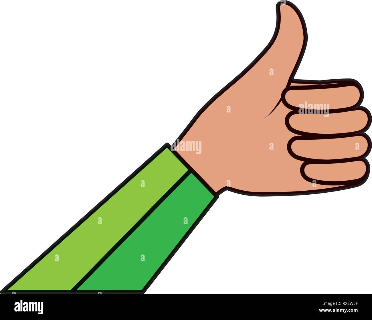 hand human ok symbol - Stock Image