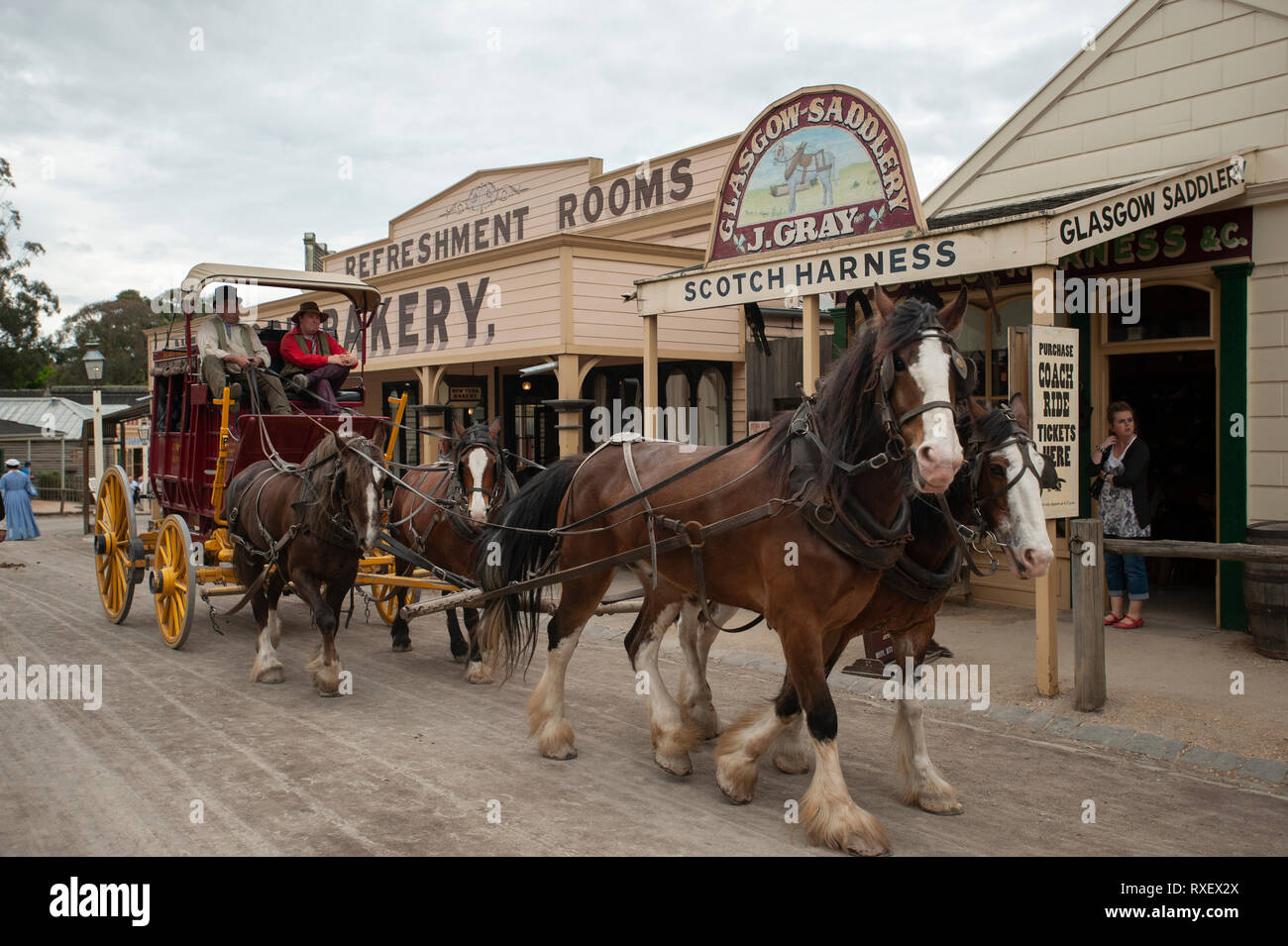 Sovereign Hill open air museum - Stock Image