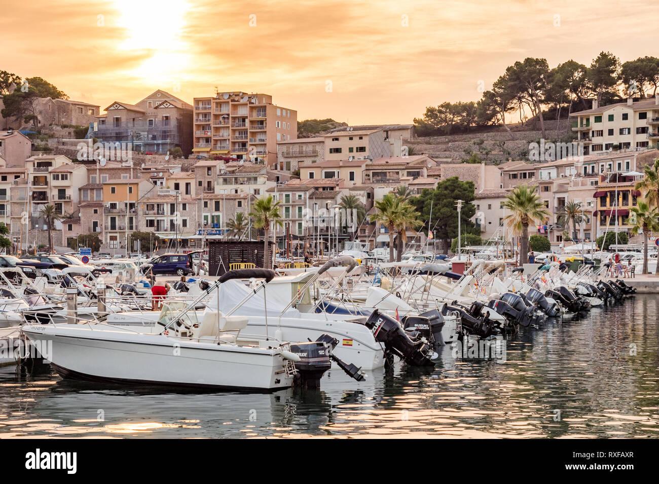 Fischerhafen Port de Sóller Mallorca Spanien - Stock Image
