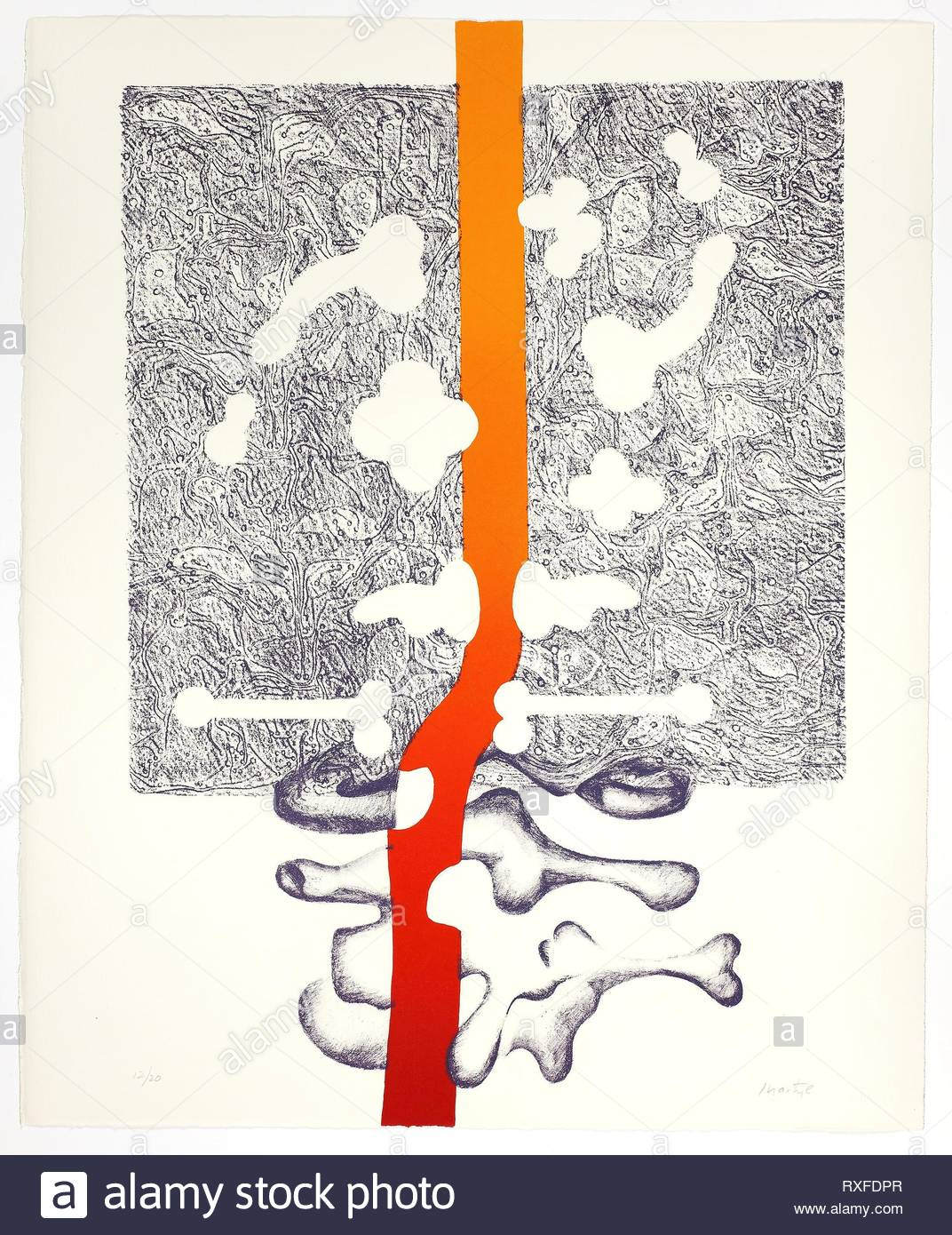 Plate One, from Synapse Suite. Martyl; American, 1918-2013. Date: 1974. Dimensions: 560 x 455 mm. Color lithograph on paper. Origin: United States. Museum: The Chicago Art Institute. Author: Suzanne Martyl Langsdorf. - Stock Image