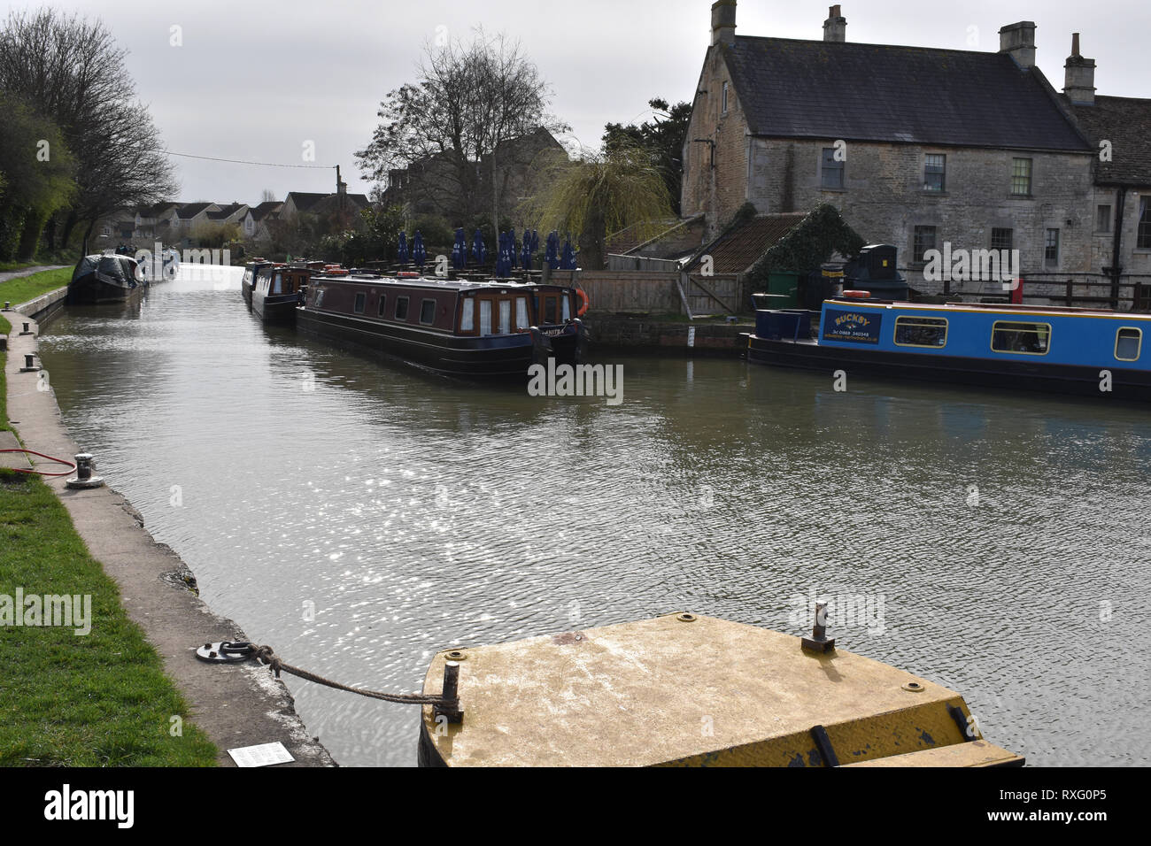 The Kennet and Avon canal, Bradford on Avon Stock Photo