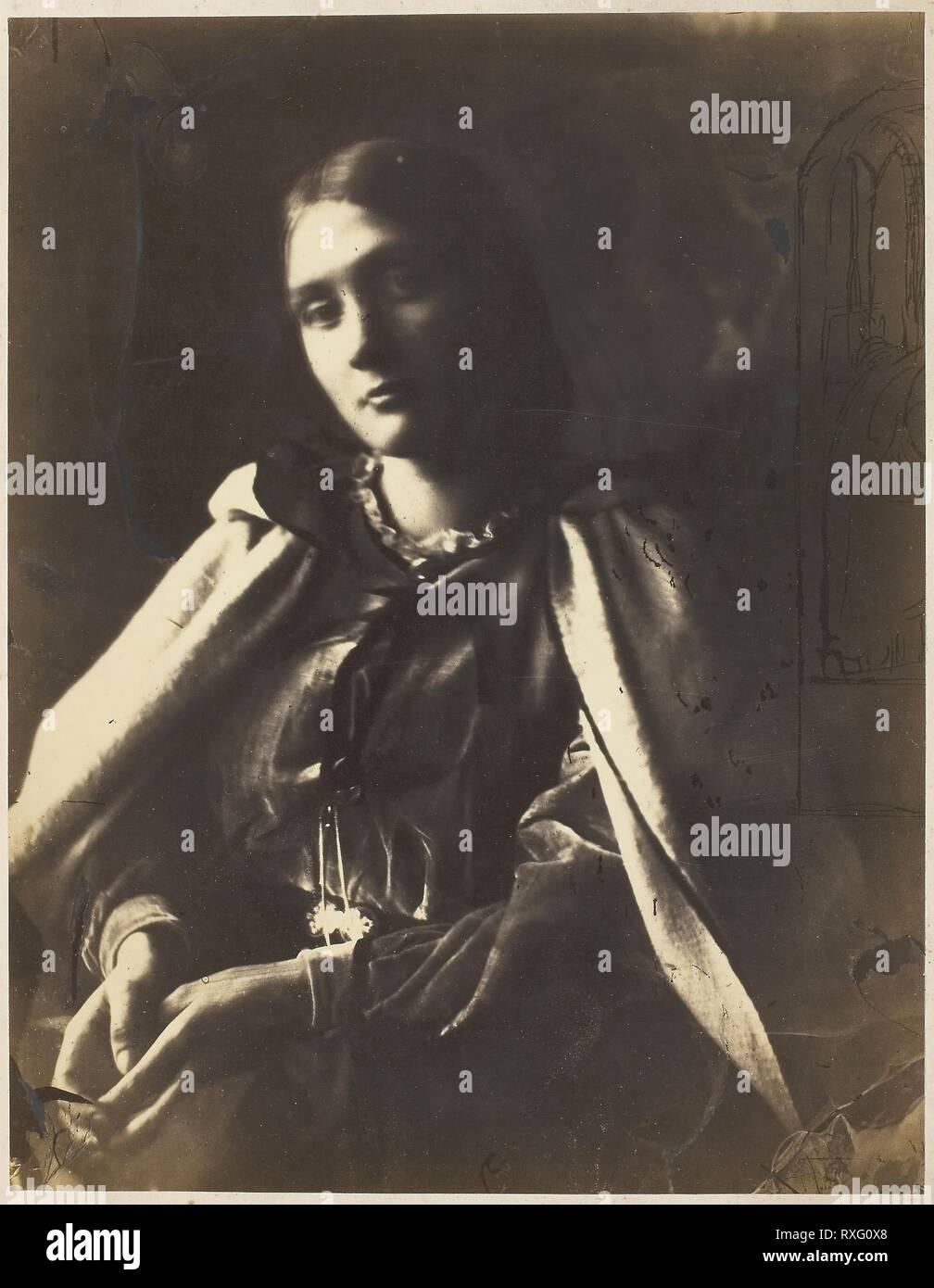 JULIA MARGARET CAMERON Vintage Photography Poster Julia Jackson 1864