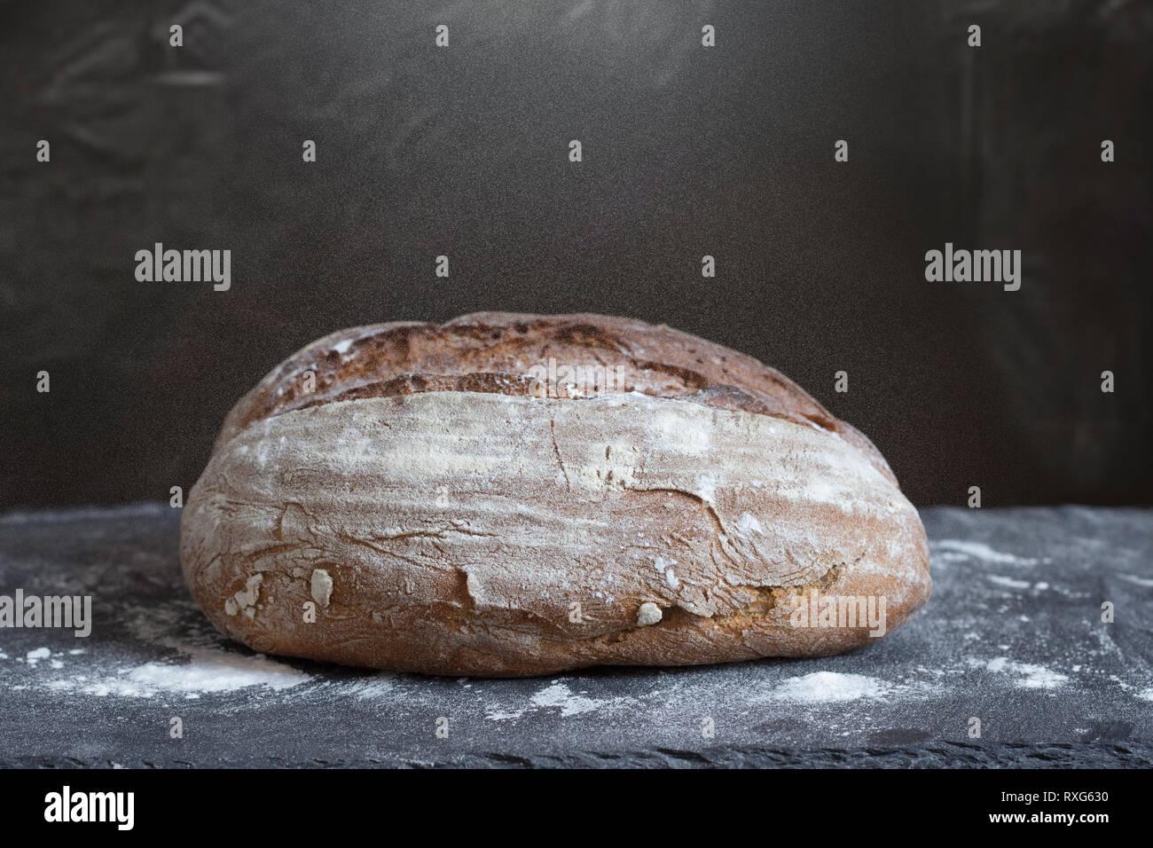 homemade artisan bread - Stock Image