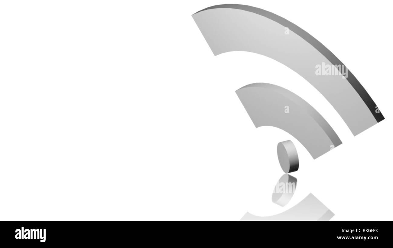 Wi-Fi network icon. White symbol with white background Stock Photo