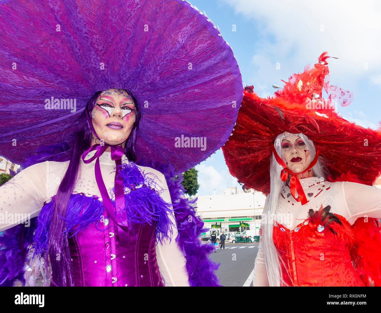 Las Palmas, Gran Canaria, Canary Islands, Spain. 9th March, 2019. The month long carnival in Las Palmas on Gran Canaria ends with a huge street parade through the city streets. Credit: ALAN DAWSON/Alamy Live News - Stock Image