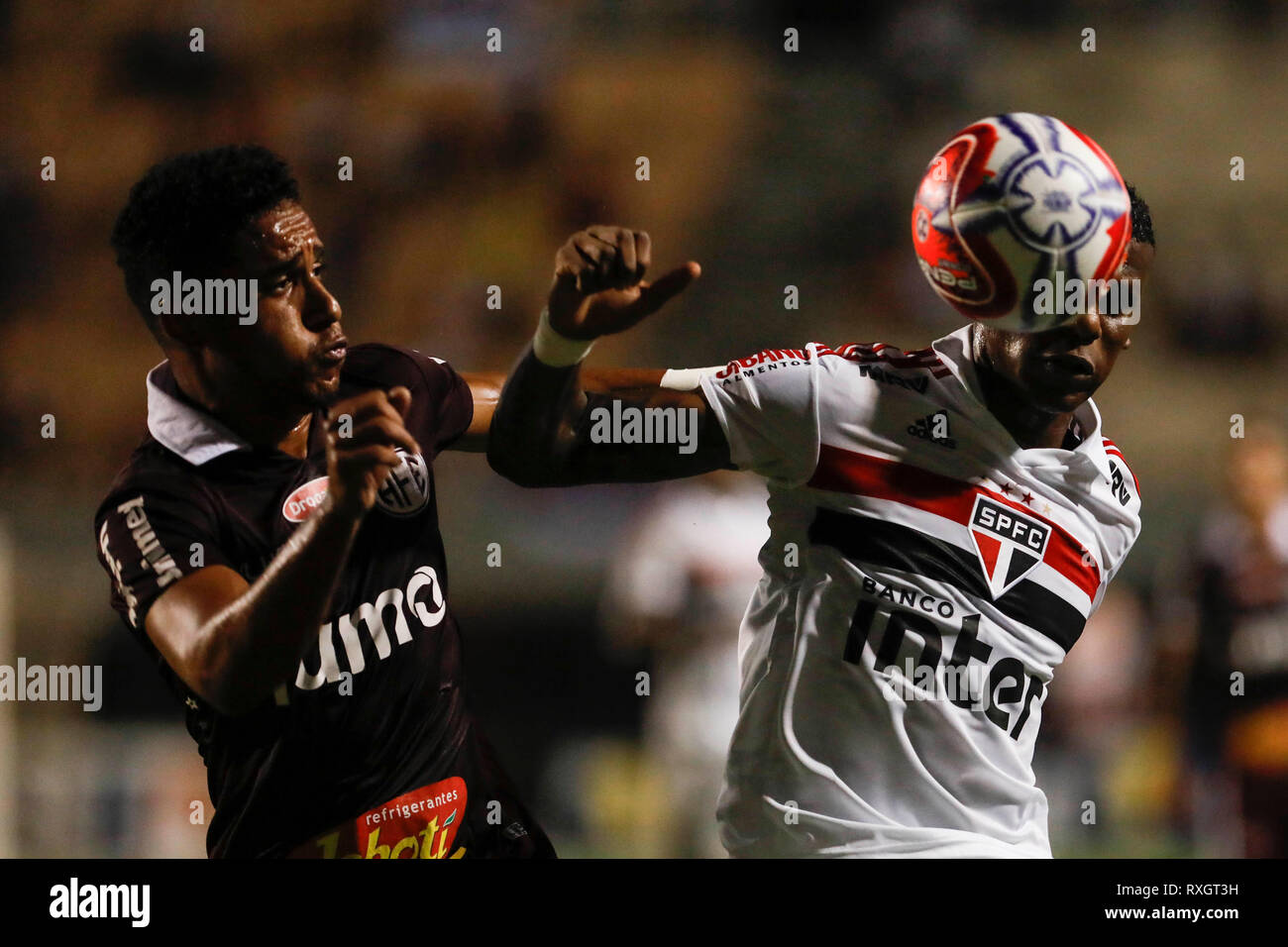 São Paulo, Brazil. 9th March 2019. - Arboleda during match between São Paulo FC x Ferroviária, valid for the 10th round of the Paulista Championship 2019 and held at the Estádio do Pacaembu in São Paulo, SP. (Photo: Ricardo Moreira/Fotoarena) Credit: Foto Arena LTDA/Alamy Live News Stock Photo