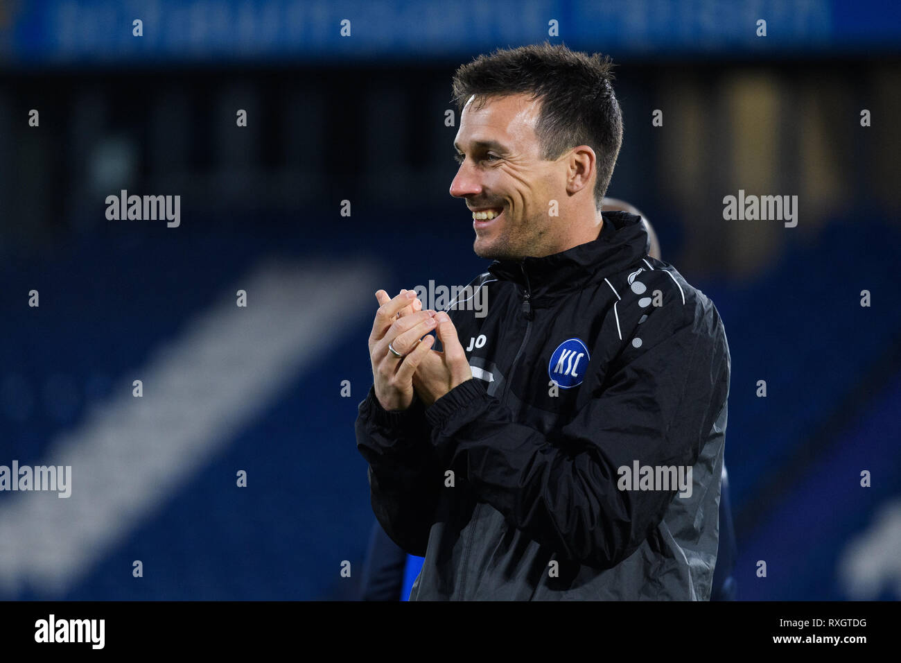 Duisburg, Deutschland. 08th Mar, 2019. Christian Eichner (KSC Co coach). GES/football/3rd league: Krefelder football club Uerdingen - Karlsruher SC, 08.03.2019 Football/Soccer: 3rd League: KFC Uerdingen vs Karlsruher SC, Duisburg, March 8, 2019 | usage worldwide Credit: dpa/Alamy Live News - Stock Image