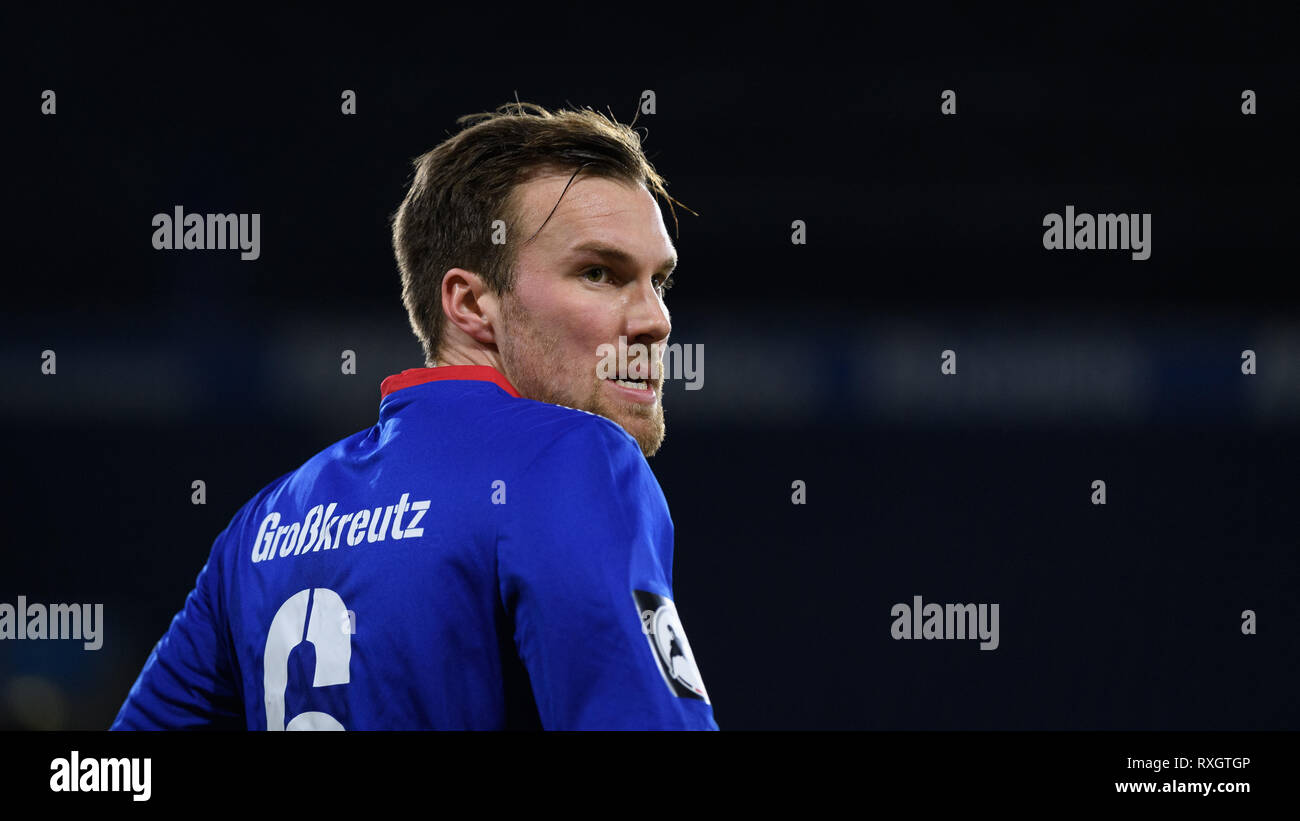 Duisburg, Deutschland. 08th Mar, 2019. Kevin Grosskreutz (KFC Uerdingen 05). GES/football/3rd league: Krefelder football club Uerdingen - Karlsruher SC, 08.03.2019 Football/Soccer: 3rd League: KFC Uerdingen vs Karlsruher SC, Duisburg, March 8, 2019 | usage worldwide Credit: dpa/Alamy Live News - Stock Image