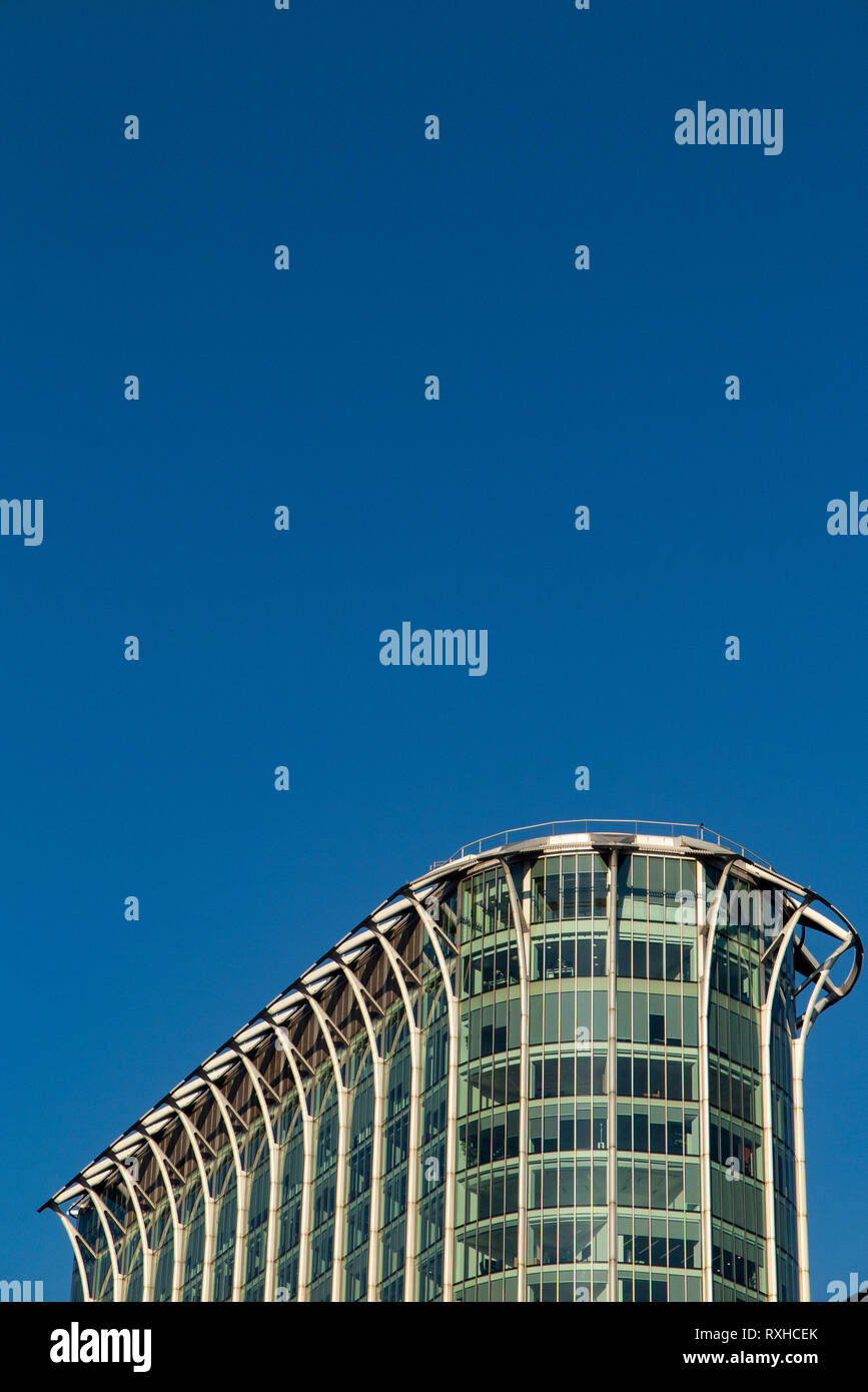 The top of the Citypoint building in the City of London, BP's headquarters - Stock Image