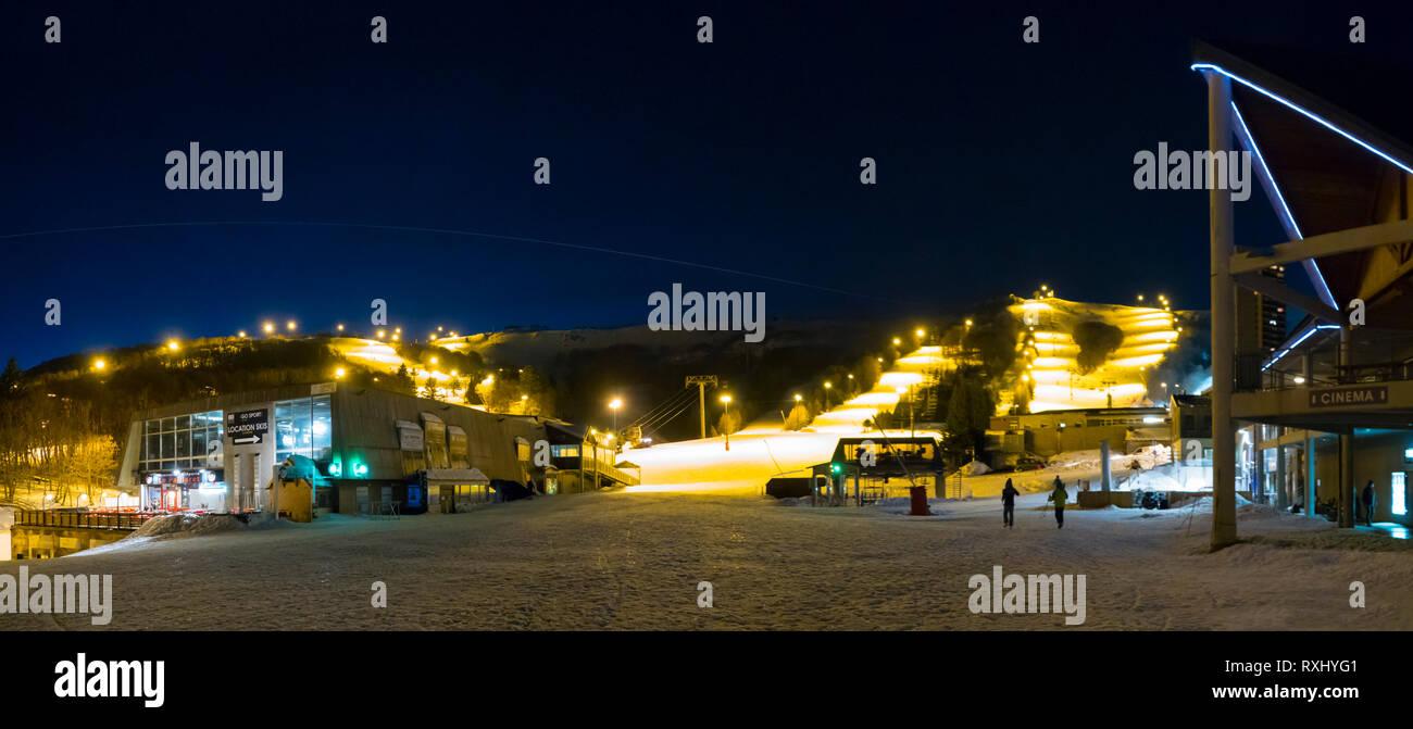 France, Puy de Dome (10), Besse-et-Saint-Anastaise, ski station of