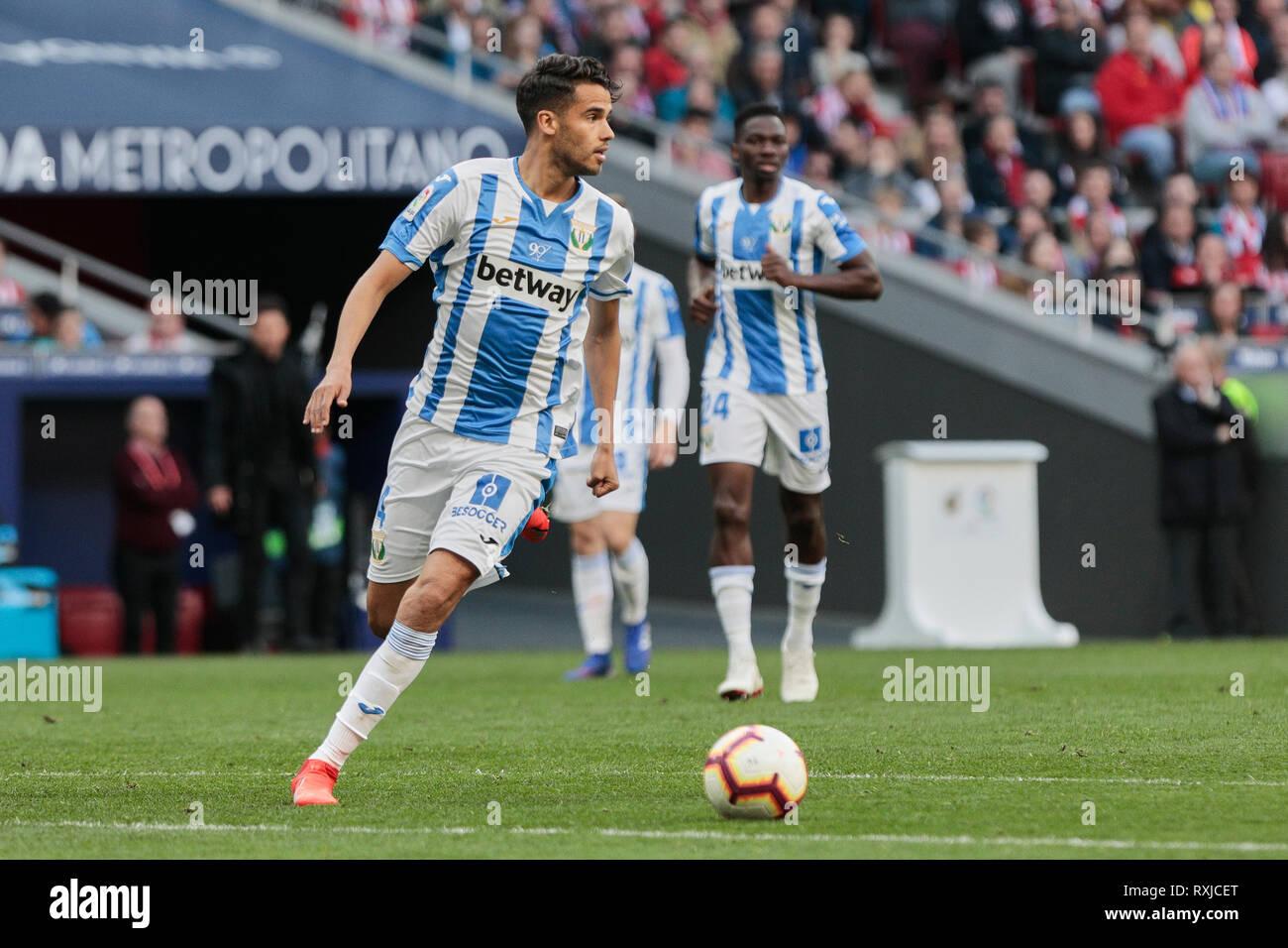 Cd Leganes S Diego Reyes During La Liga Match Between Atletico De