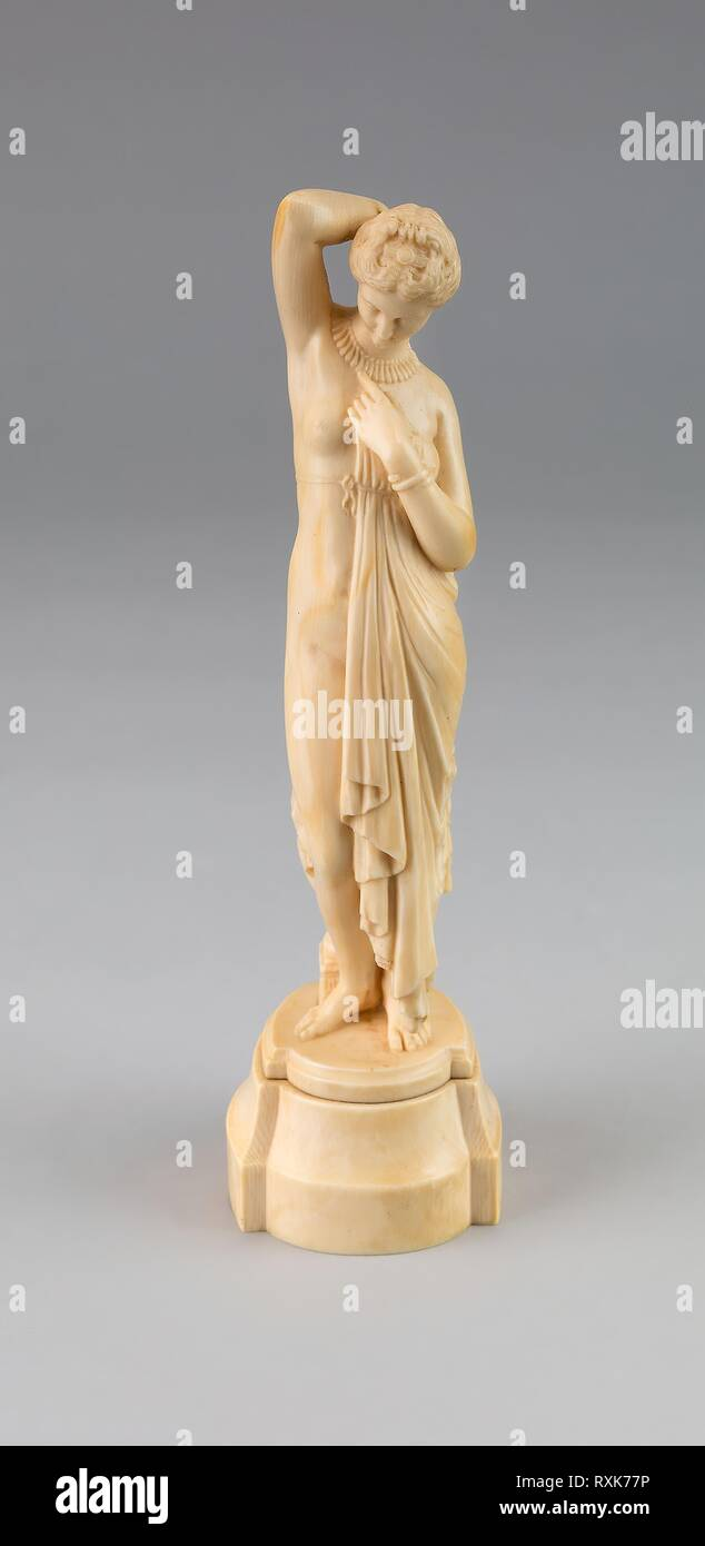 Figure of Phryne. Jean-Jacques Pradier (Attributed to); French, 1792-1852. Date: 1840-1850. Dimensions: H. 21.6 cm (8 1/2 in.). Ivory. Origin: France. Museum: The Chicago Art Institute. Stock Photo