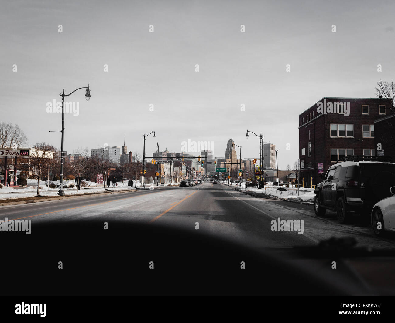 Buffalo downtown, urbanized - Stock Image