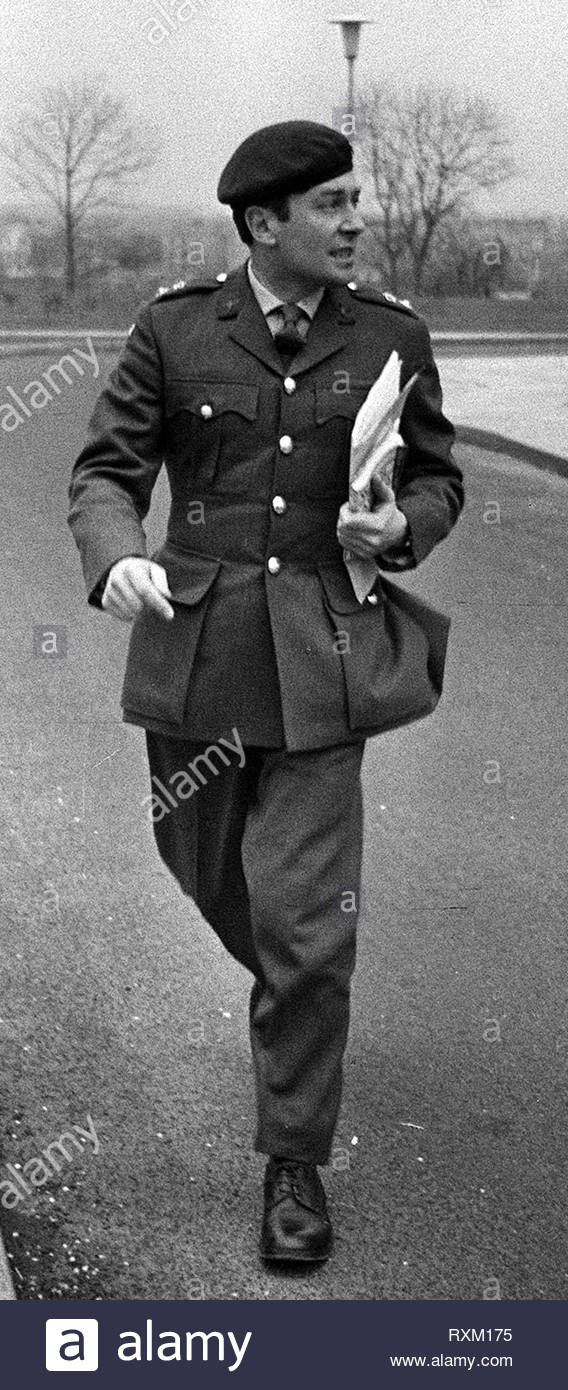 File photo dated 6/3/1972 of Lt Col Derek Wilford, the former commander of the members of the Parachute Regiment involved in the Bloody Sunday shootings. - Stock Image