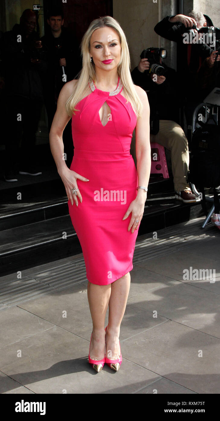 Mar 10, 2015 - London, England, UK - TRIC Awards - Red Carpet Arrivals, Grosvenor House Hotel Photo Shows: Kristina Rihanoff - Stock Image