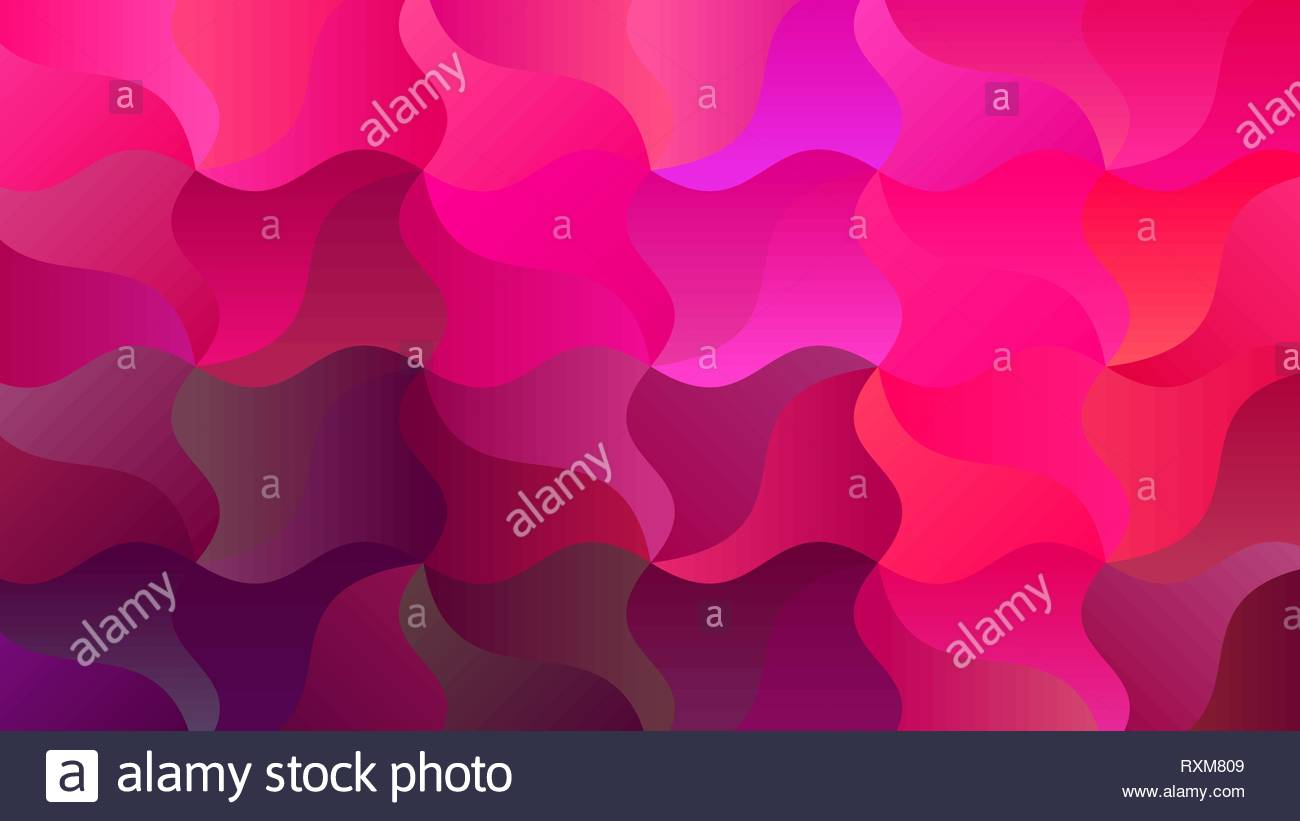 Background with Vibrant Curves of Magenta Purple - Stock Vector