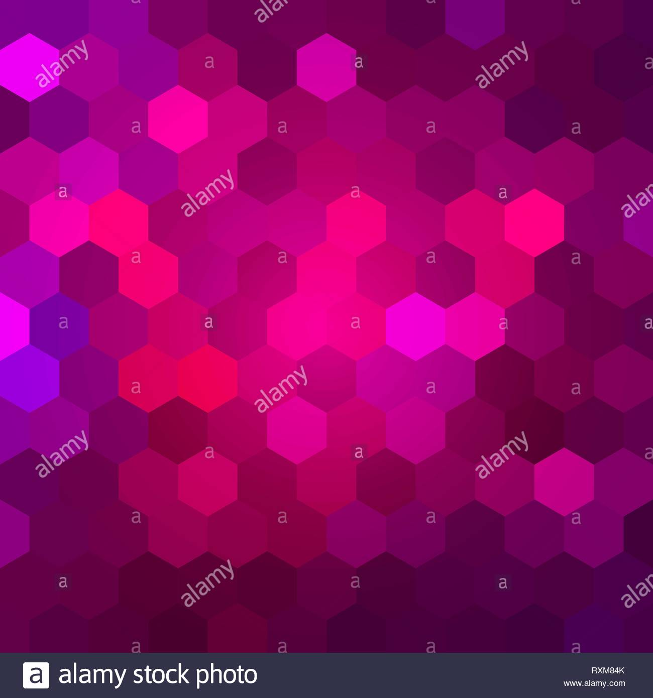 Brightly Colored Pink and Magenta Mosaic Design - Stock Image