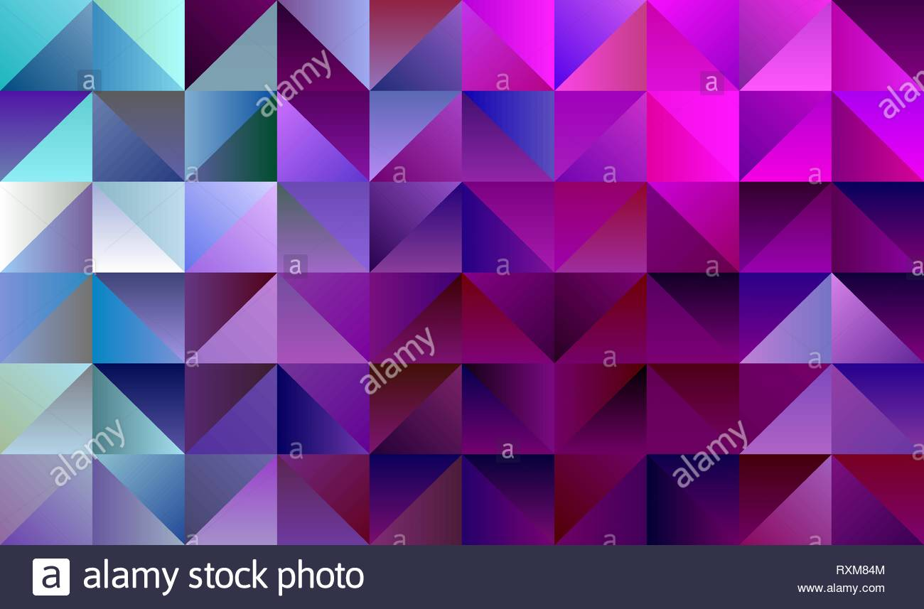 Geometric Magenta and Cyan Backdrop with Triangles - Stock Image