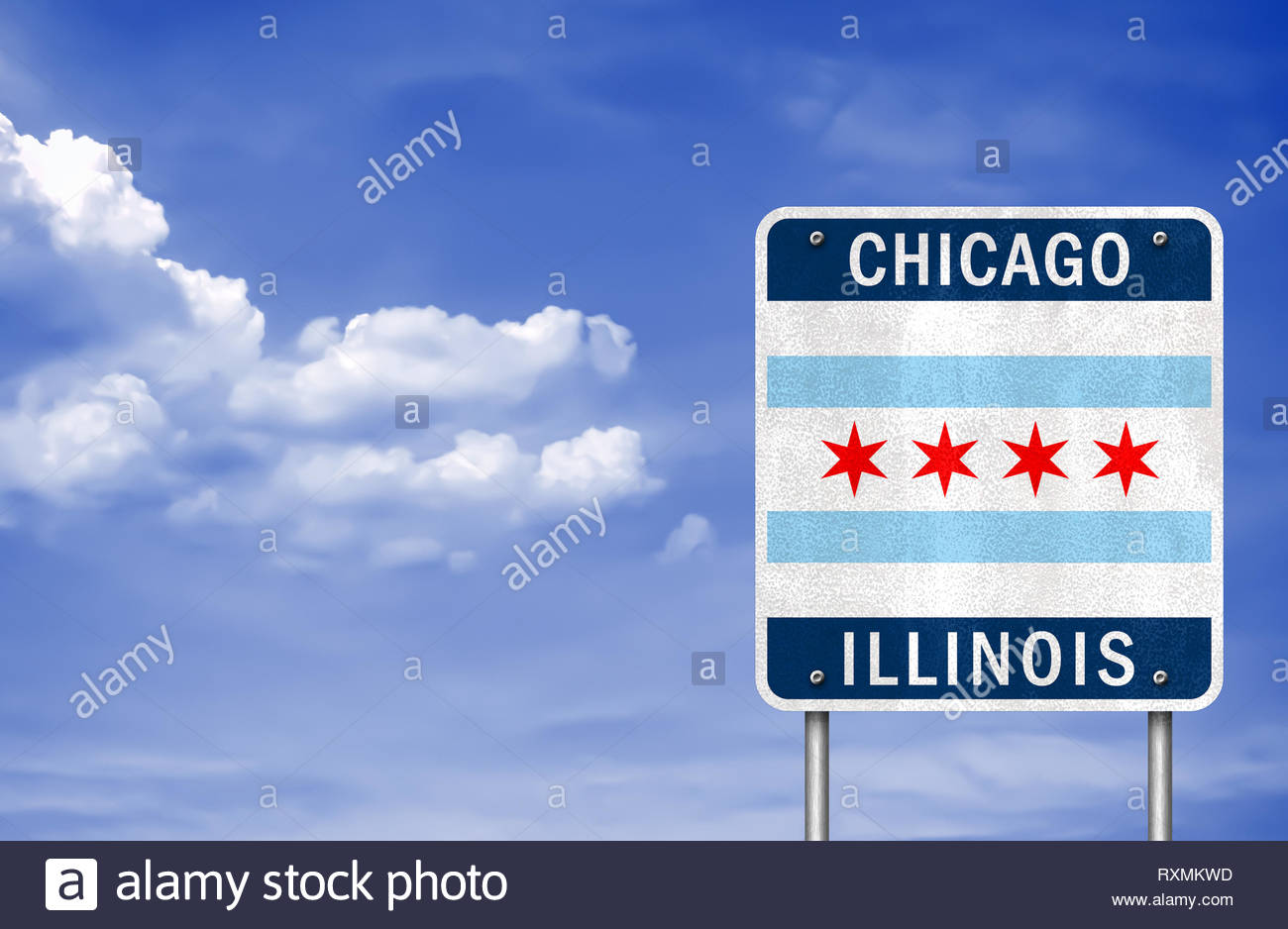 Welcome to Chicago - Illinois - Stock Image