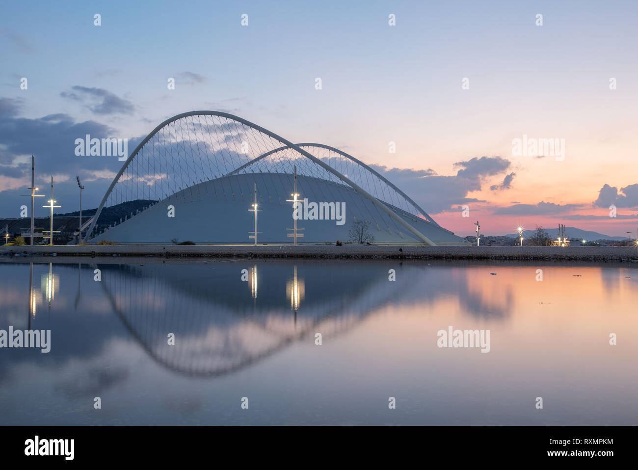 Athens, Greece - November 11, 2018: Architecture in Olympic Sports Complex OACA in Athens, Greece. - Stock Image