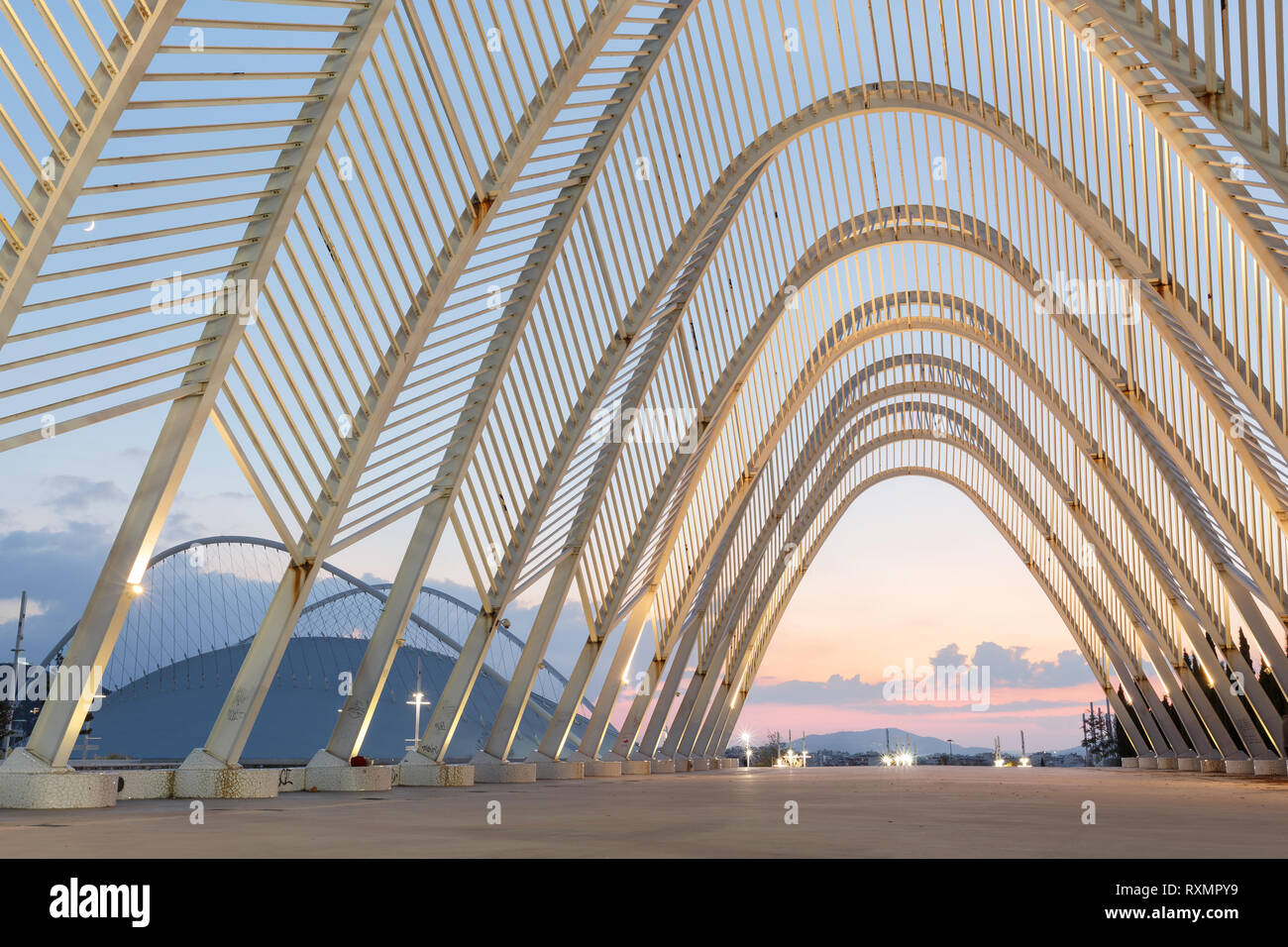Athens, Greece - November 11, 2018: The Promenade in Olympic Sports Complex OACA in Athens, Greece. - Stock Image
