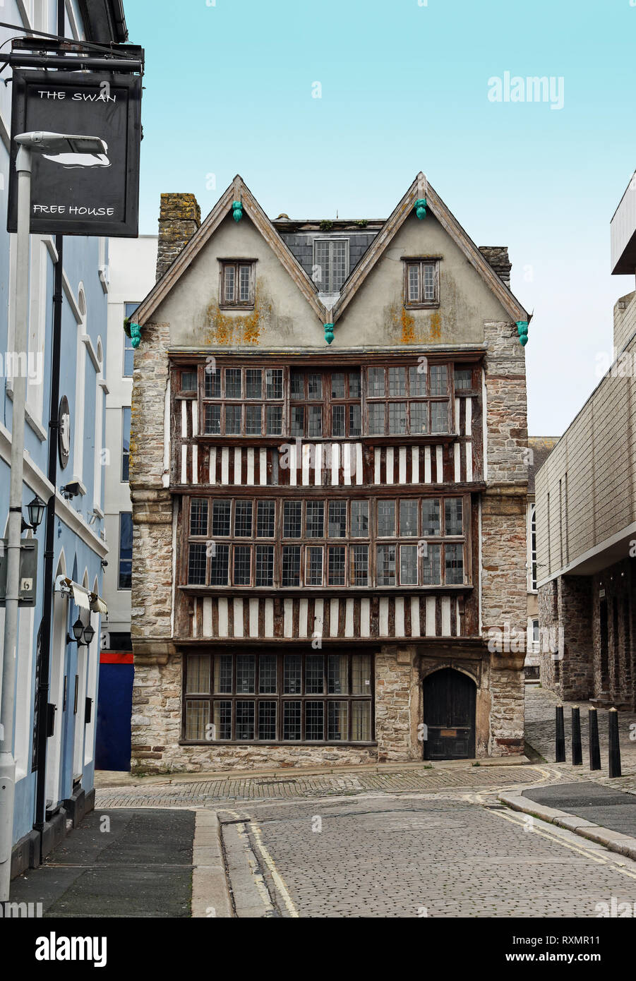 Merchant's House, St Andrew's Street. Plymouth - Stock Image