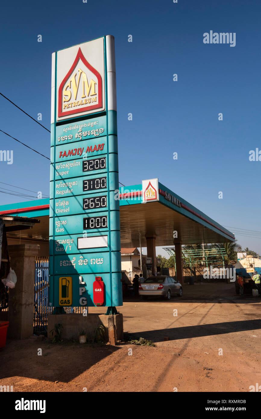 Cambodia Petrol Station Stock Photos & Cambodia Petrol