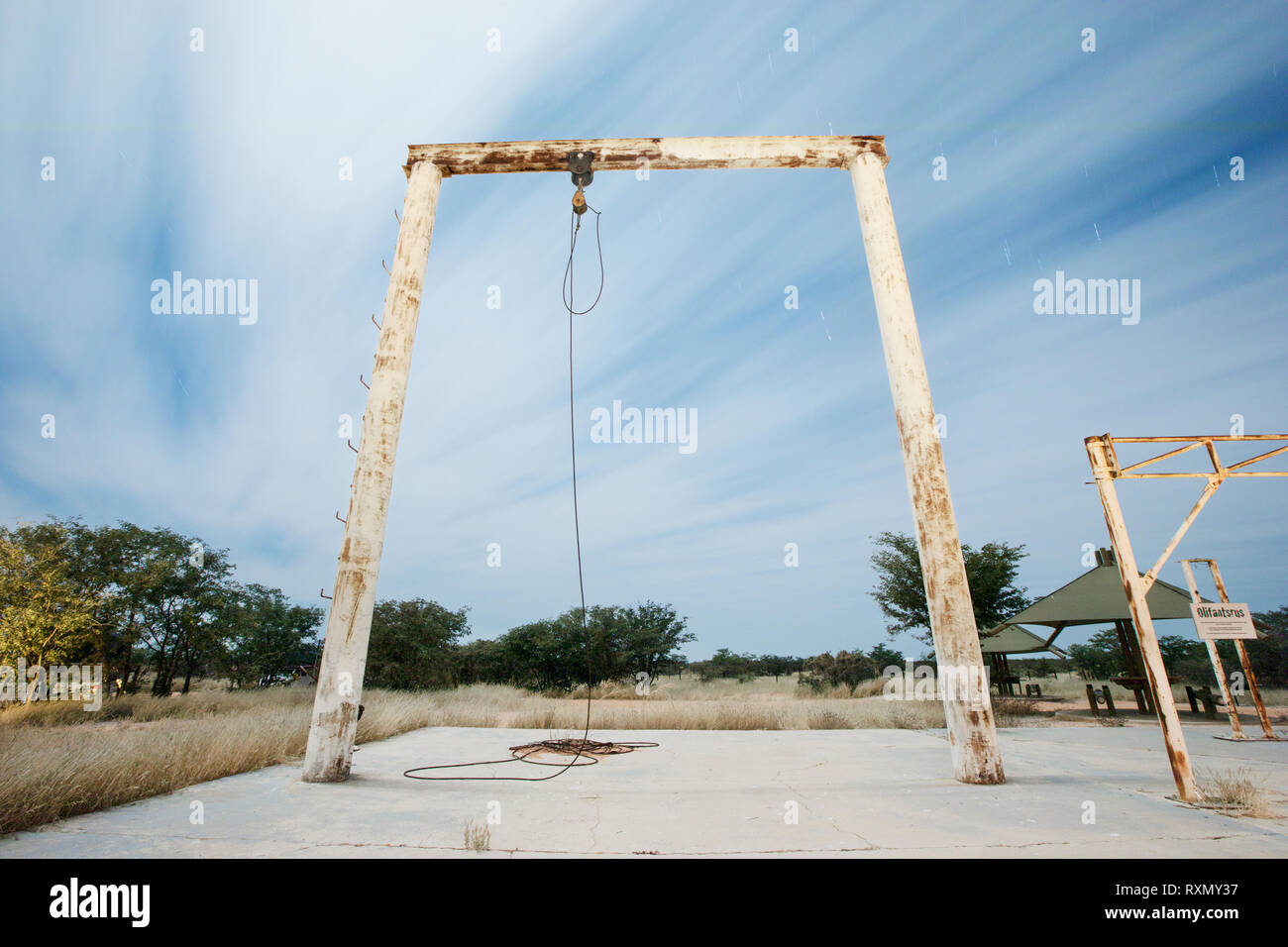 The slaughter structure at Olifantsrus - Stock Image
