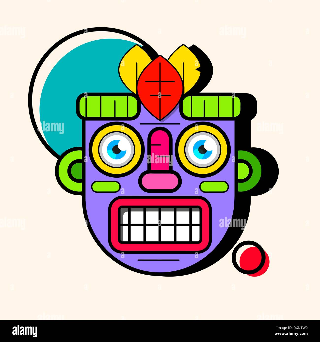 Idol Mask. Simple Illustration Of Mask Vector Icon For Web Design - Stock Vector