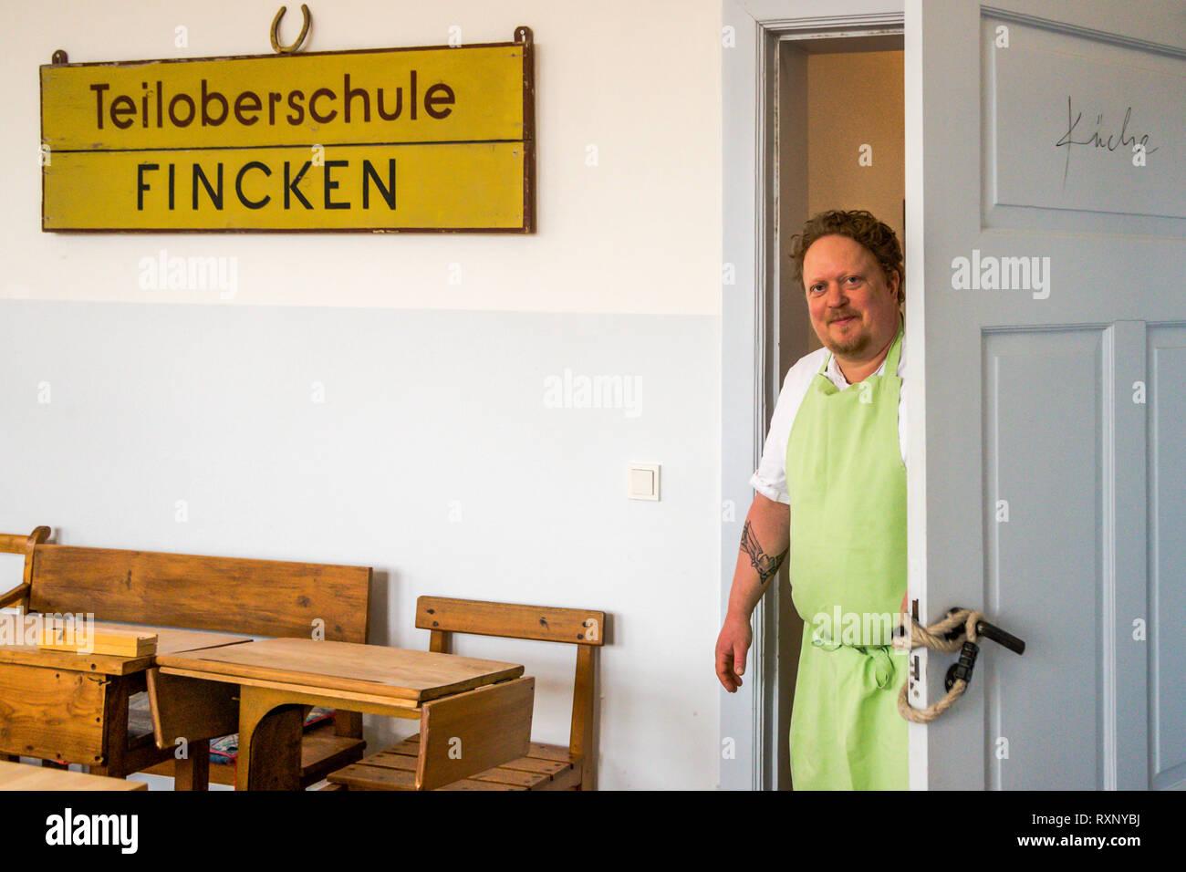 Gunnar Müller, chef of Hotel Kavaliershaus in Fincken, Germany Stock Photo