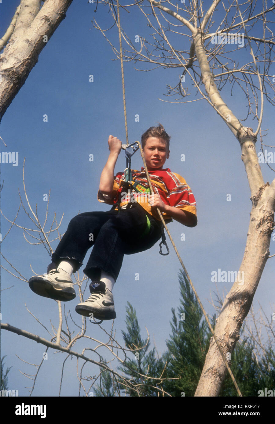 LOS ANGELES, CA - FEBRUARY 13: (EXCLUSIVE) Stuntman/actor Mickey Cassidy poses at a photo shoot on February 13, 1994 in Los Angeles, California. Photo by Barry King/Alamy Stock Photo - Stock Image