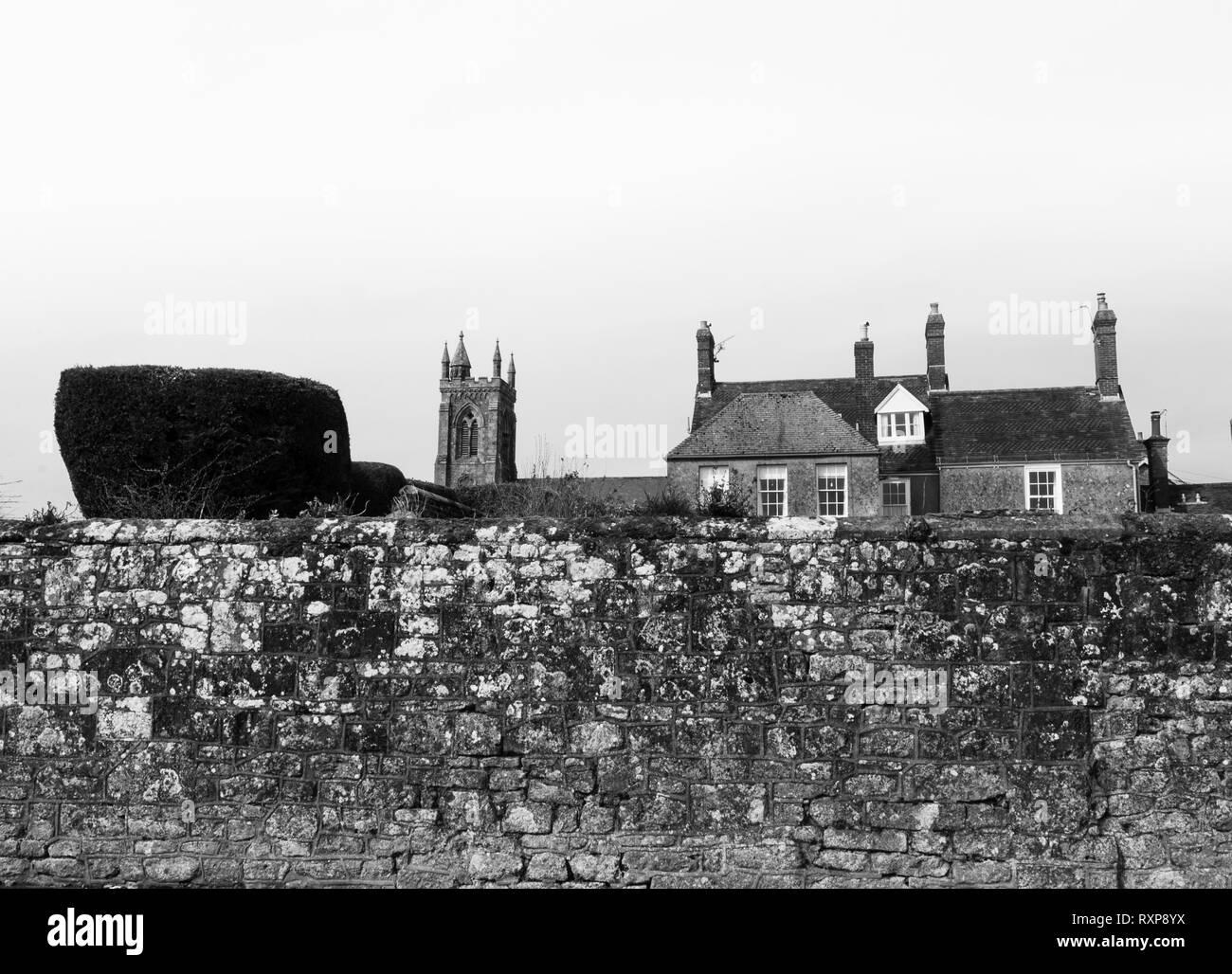 Park Walk, Shaftesbury abbey, Shaftesbury, Dorset, UK - Stock Image