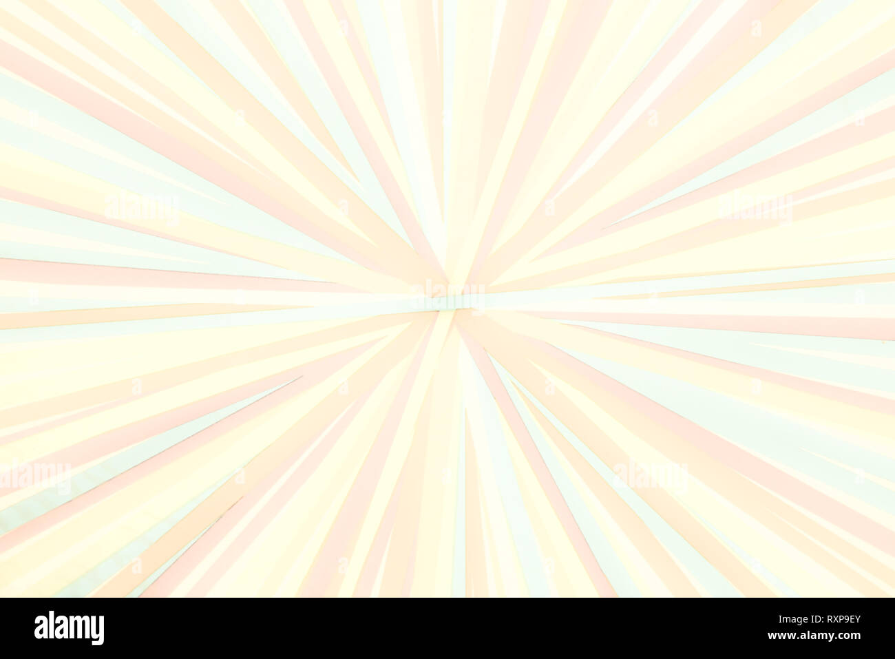 Converging lines - colorful stripes - Bright rainbow spectrum of colors radial converging lines background - Stock Image