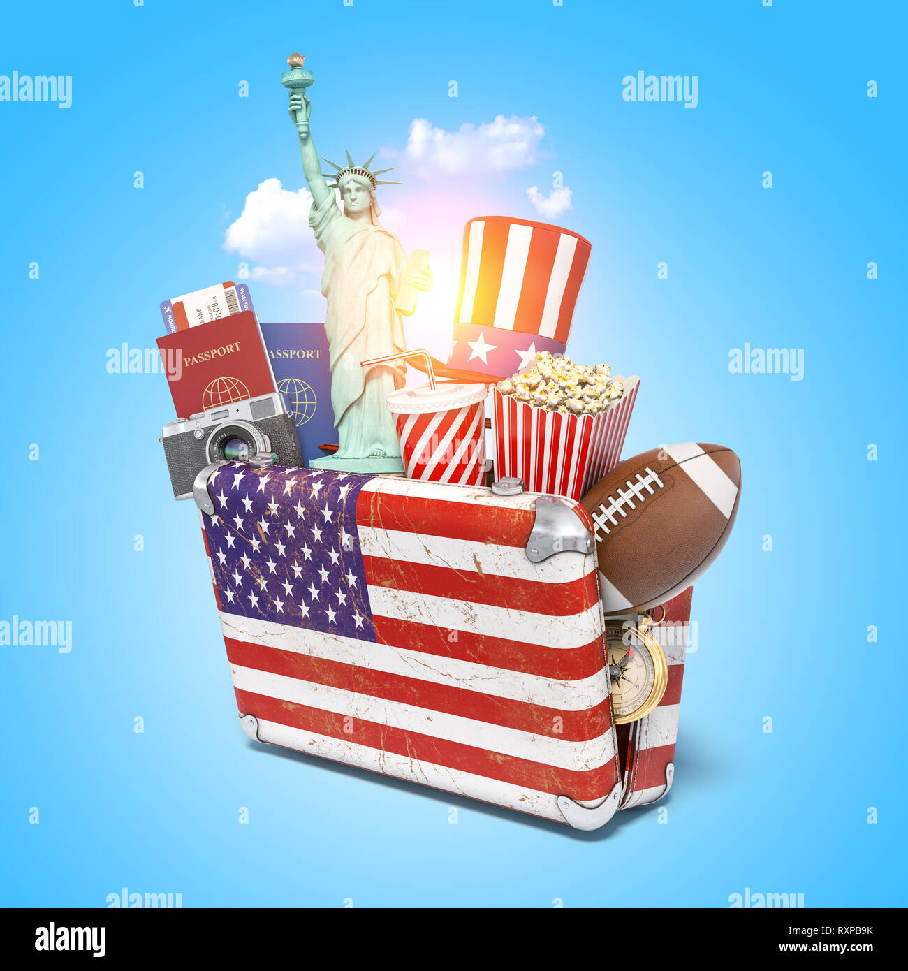 USA America car sticker Stars /& stripes Flag Uncle Sam New York Washington Ohio