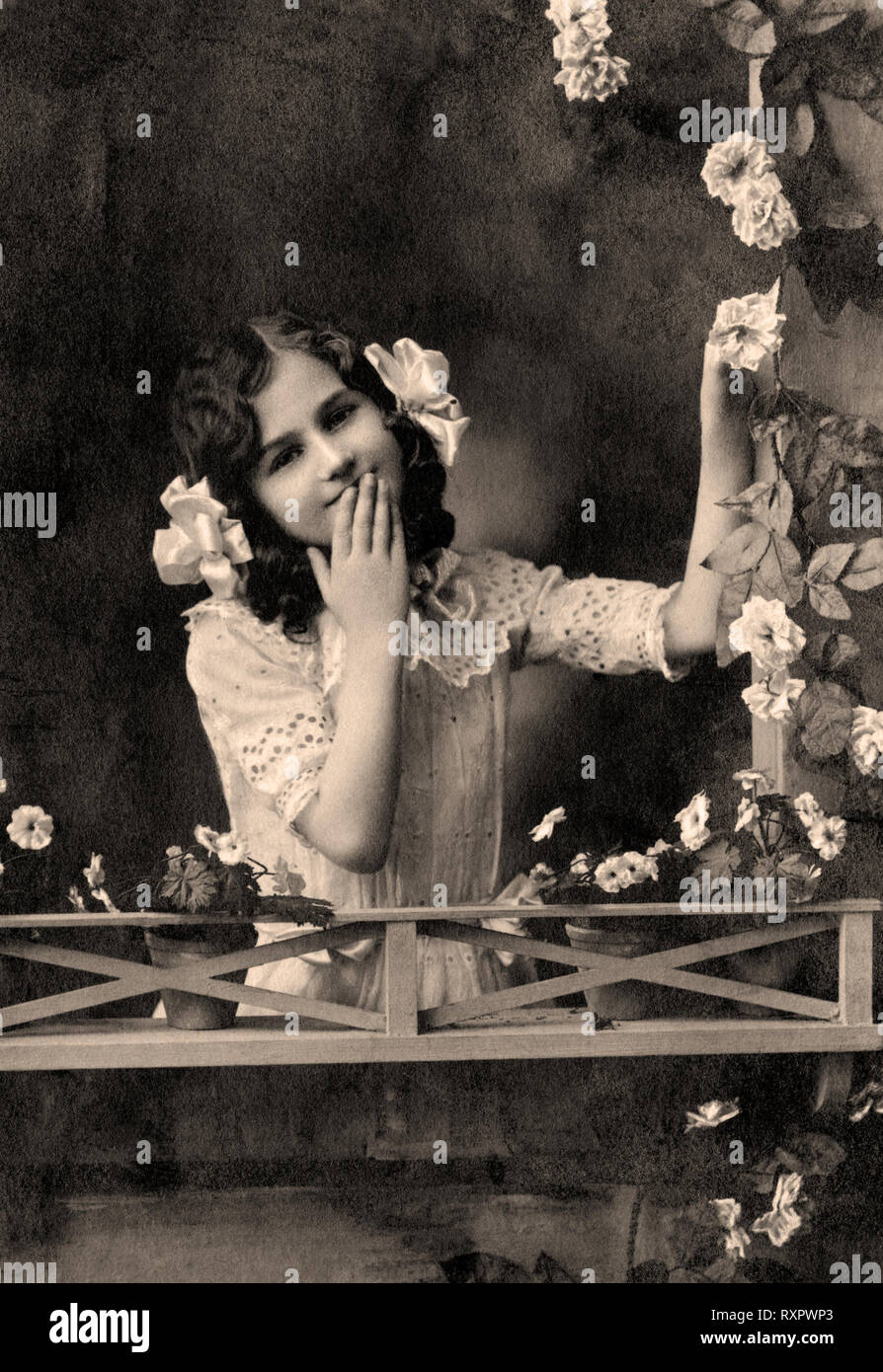Vintage portrait of woman in the late 19 th century Stock Photo