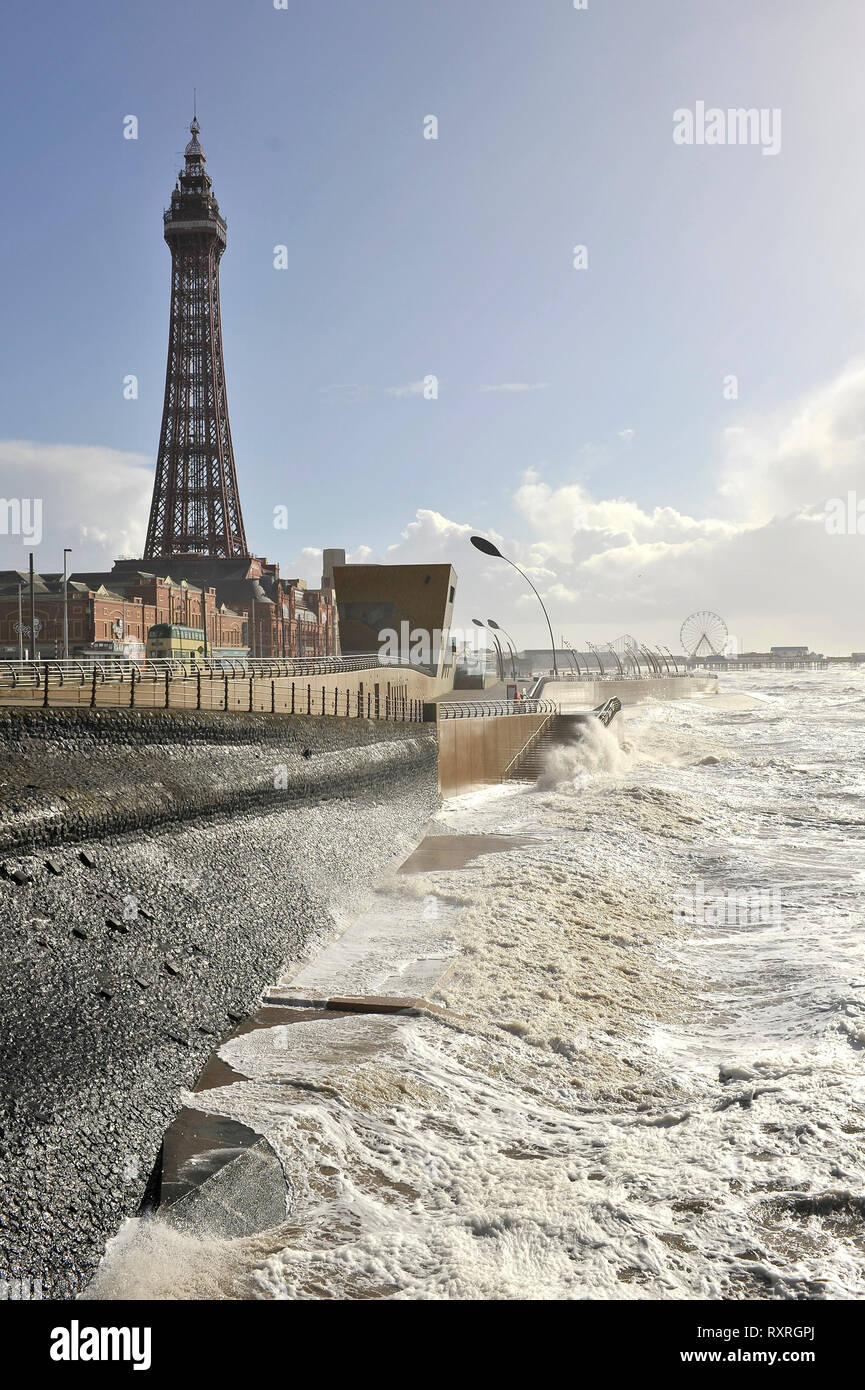 Blackpool, Lancashire, UK 10th March 2019  A combination of high