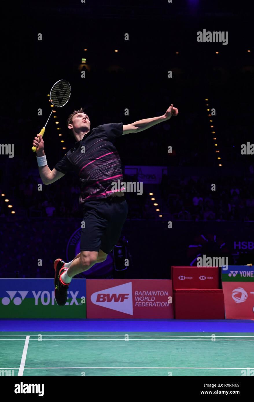 Arena Birmingham Birmingham Uk 10th Mar 2019 Yonex All England Open Badminton Championships Day 5 Mens