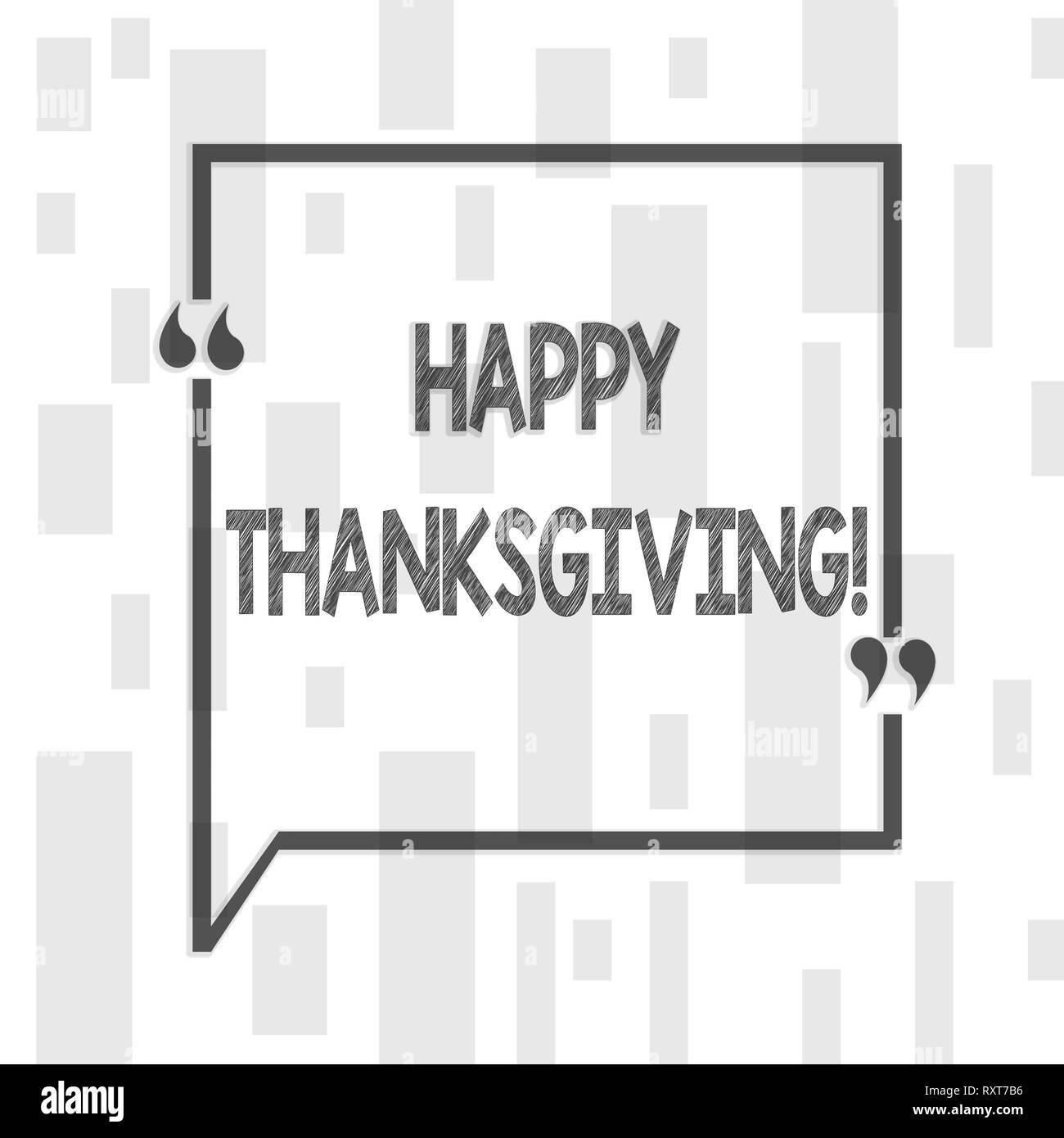 Handwriting text writing Happy Thanksgiving. Conceptual photo congratulations phrase Holidays - Stock Image